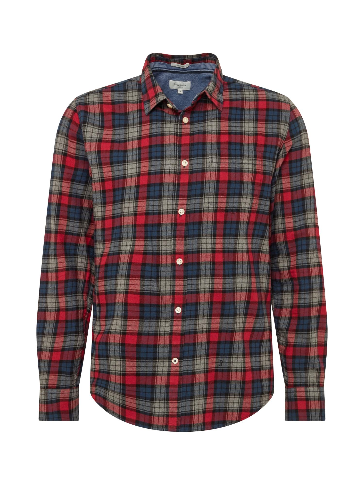 Pepe Jeans Košile 'Telford'  červená / modrá