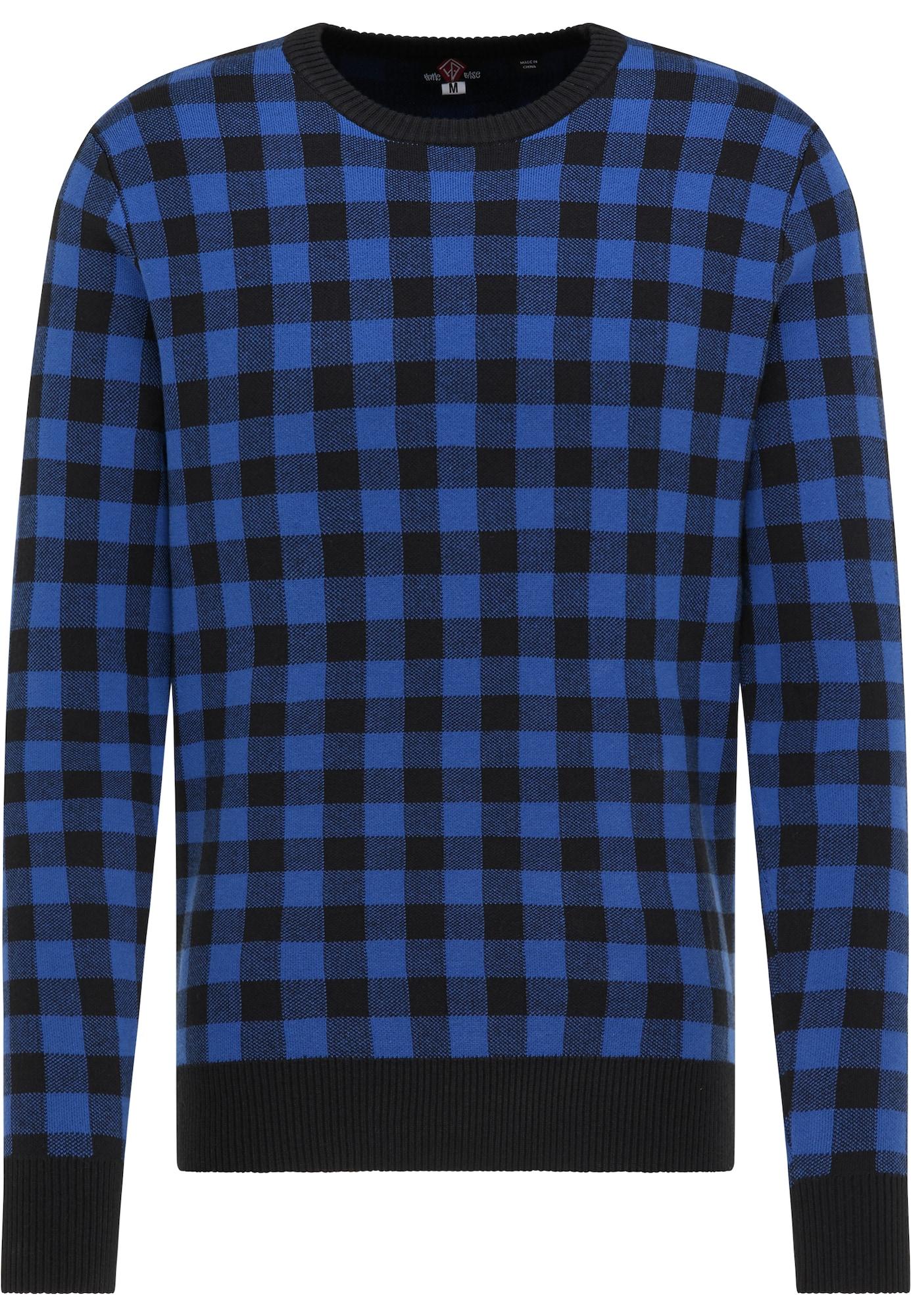 HOMEBASE Megztinis juoda / mėlyna