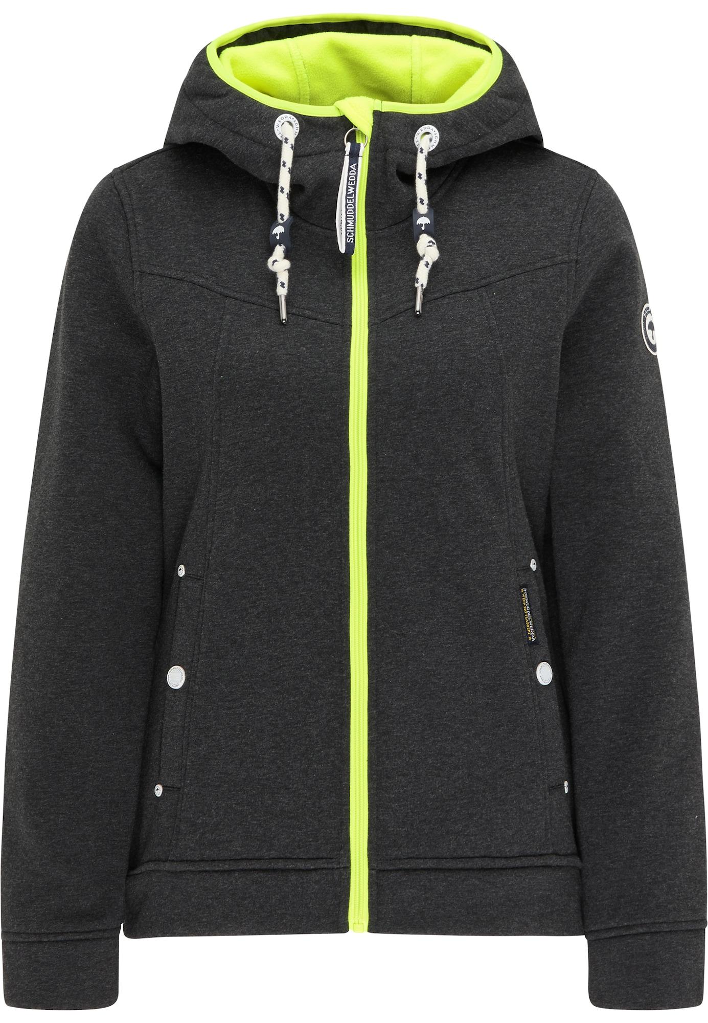 Schmuddelwedda Flisinis džemperis neoninė žalia / bazalto pilka