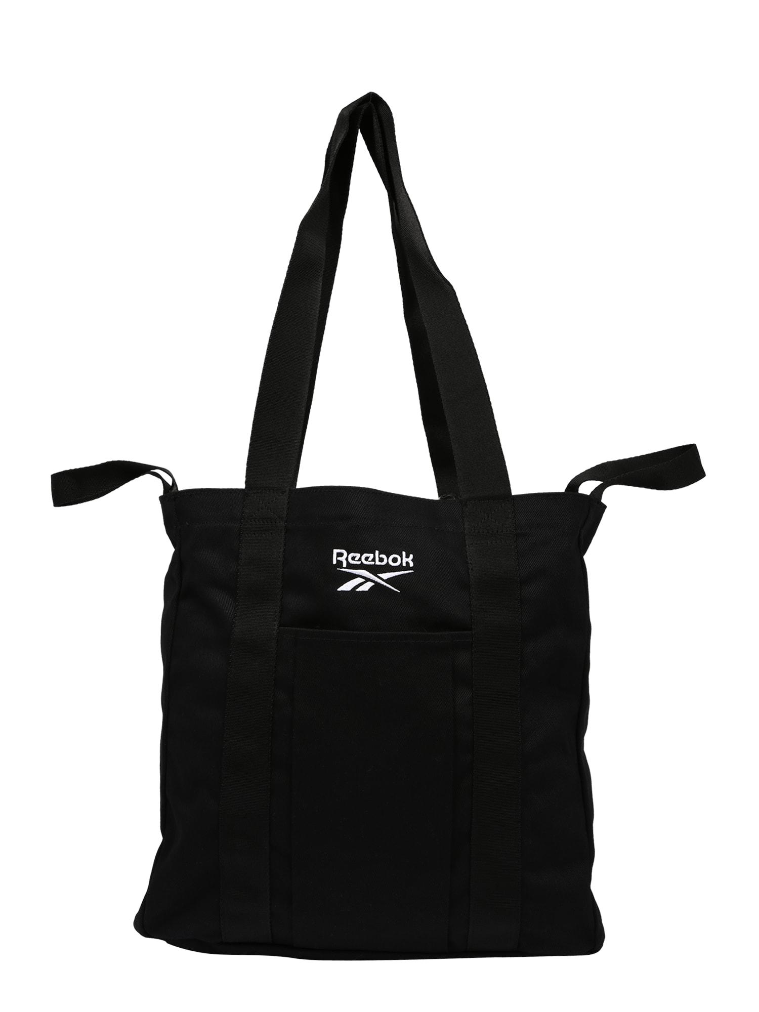 Reebok Classic Pirkinių krepšys juoda / balta