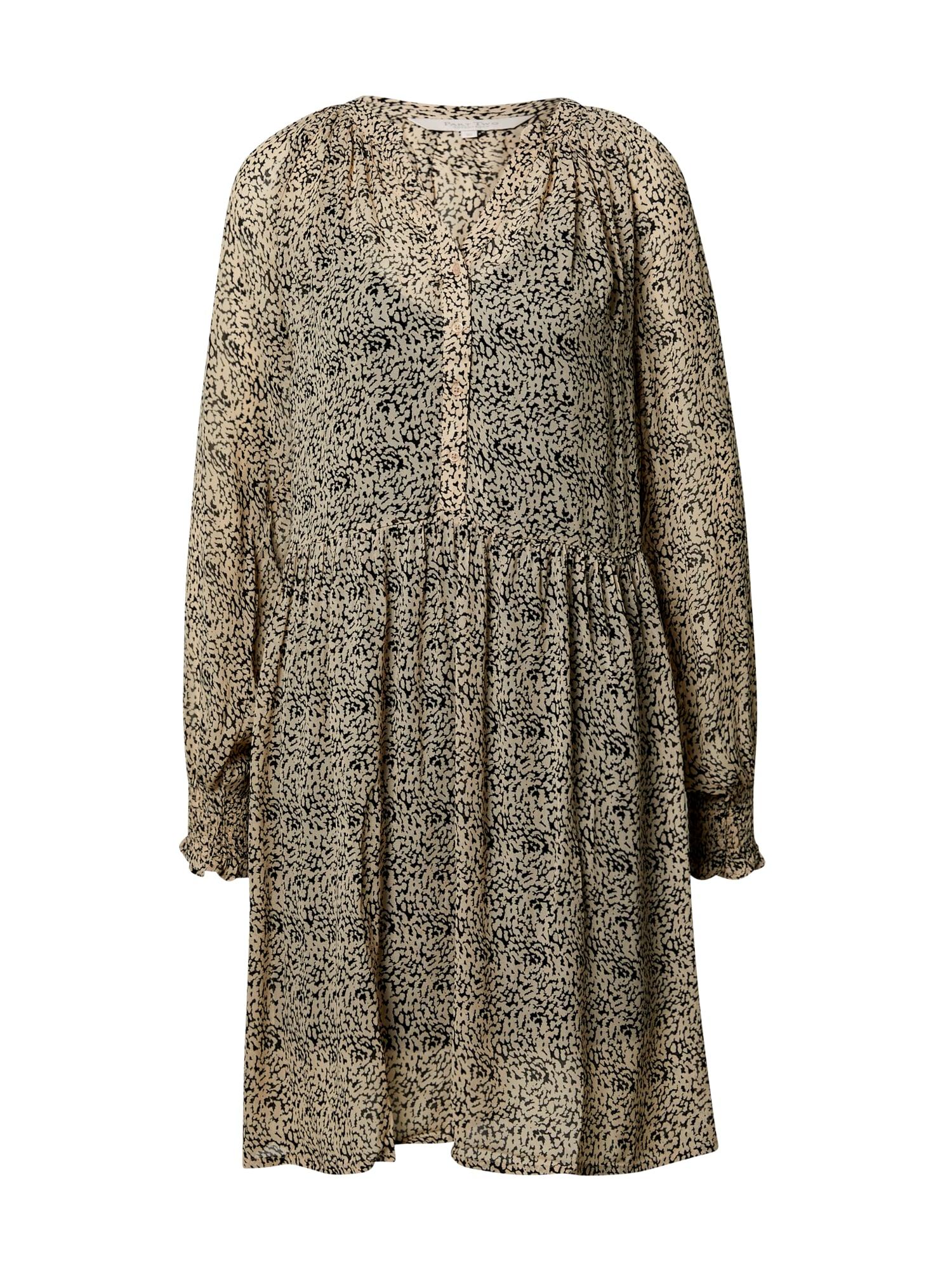 Part Two Košilové šaty 'Franja'  světle béžová / černá