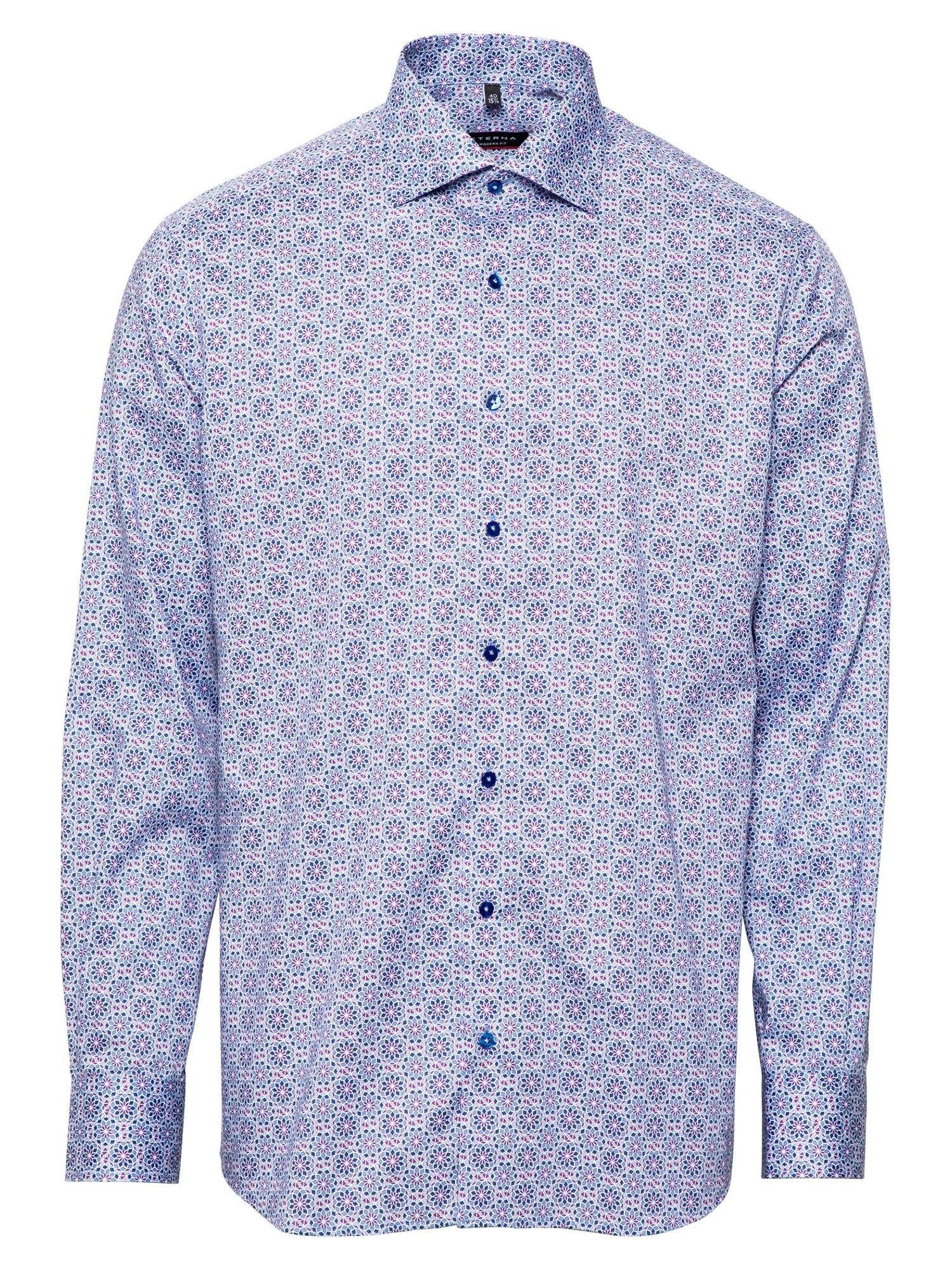 ETERNA Dalykinio stiliaus marškiniai rožinė / mėlyna