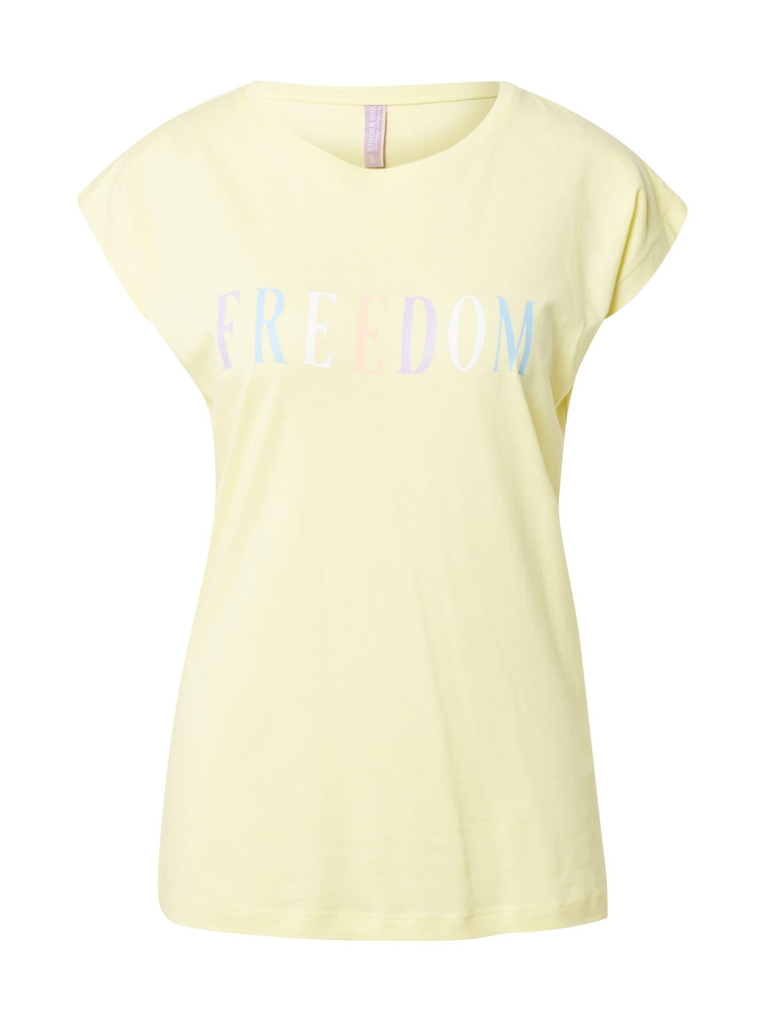 Stitch and Soul Marškinėliai geltona / mišrios spalvos
