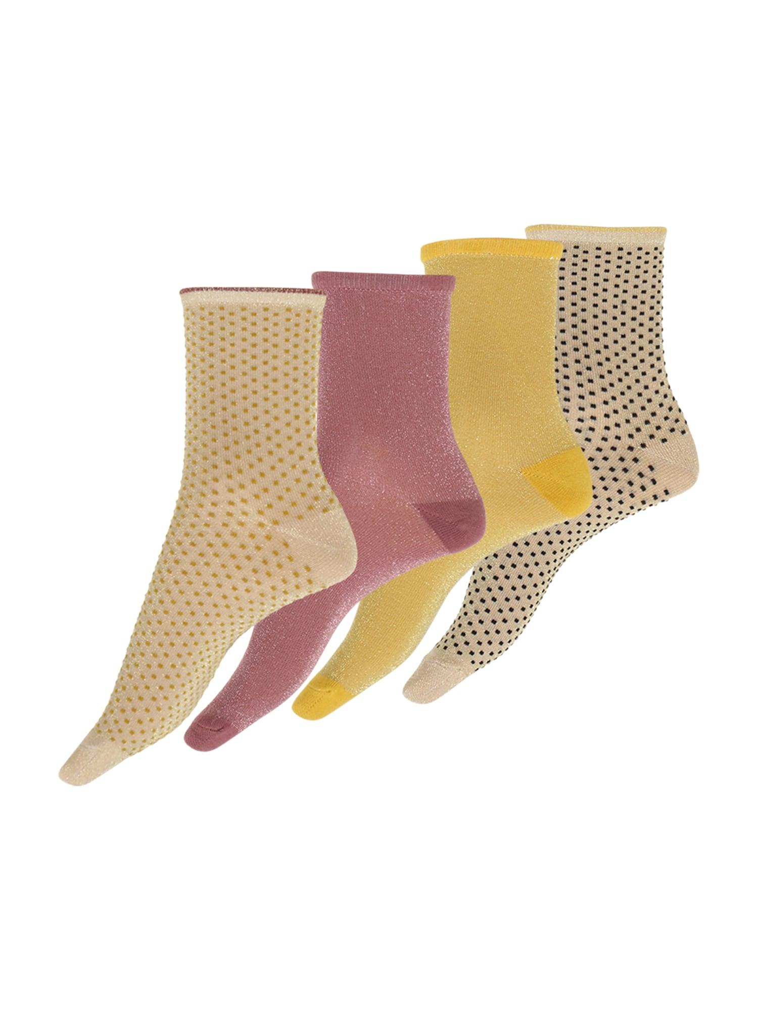 BeckSöndergaard Kojinės smėlio / rausvai violetinė spalva / geltona / juoda