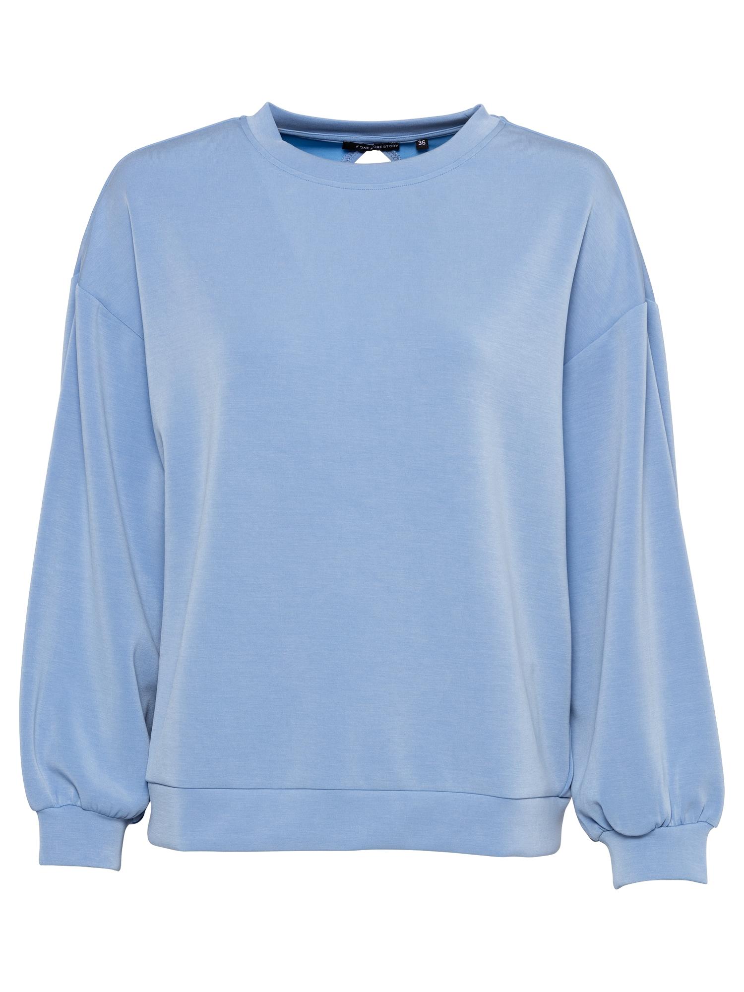 ONE MORE STORY Megztinis be užsegimo mėlyna dūmų spalva