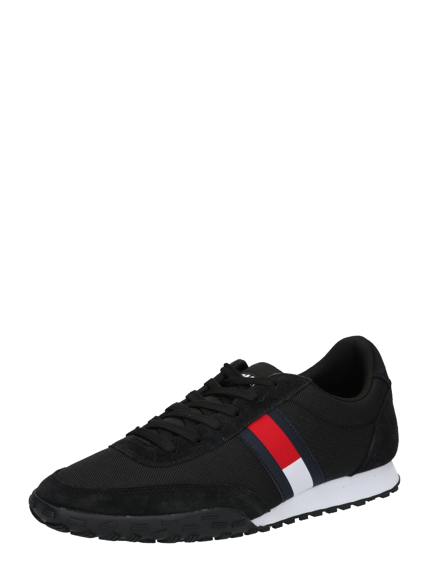 Tommy Jeans Tenisky  černá / bílá / námořnická modř / červená