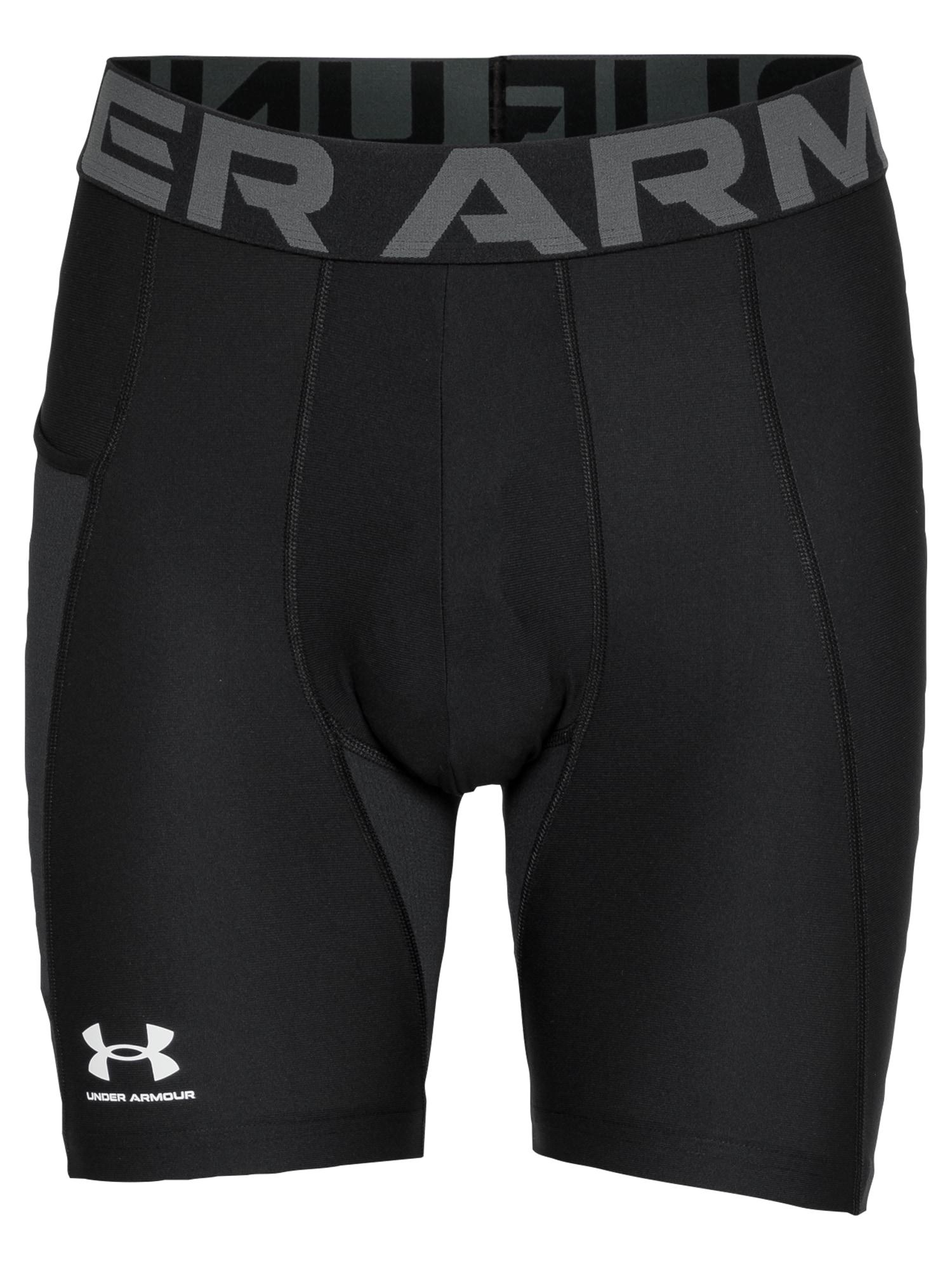 UNDER ARMOUR Sportinės kelnės juoda / pilka / balta