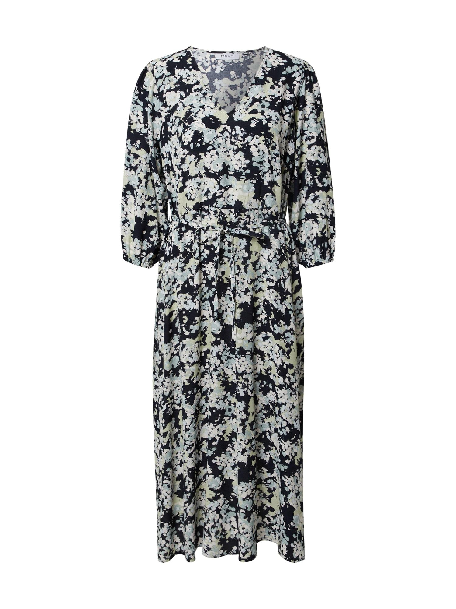 MOSS COPENHAGEN Šaty 'Thessa Jalina'  kobaltová modř / opálová / pastelově zelená / bílá