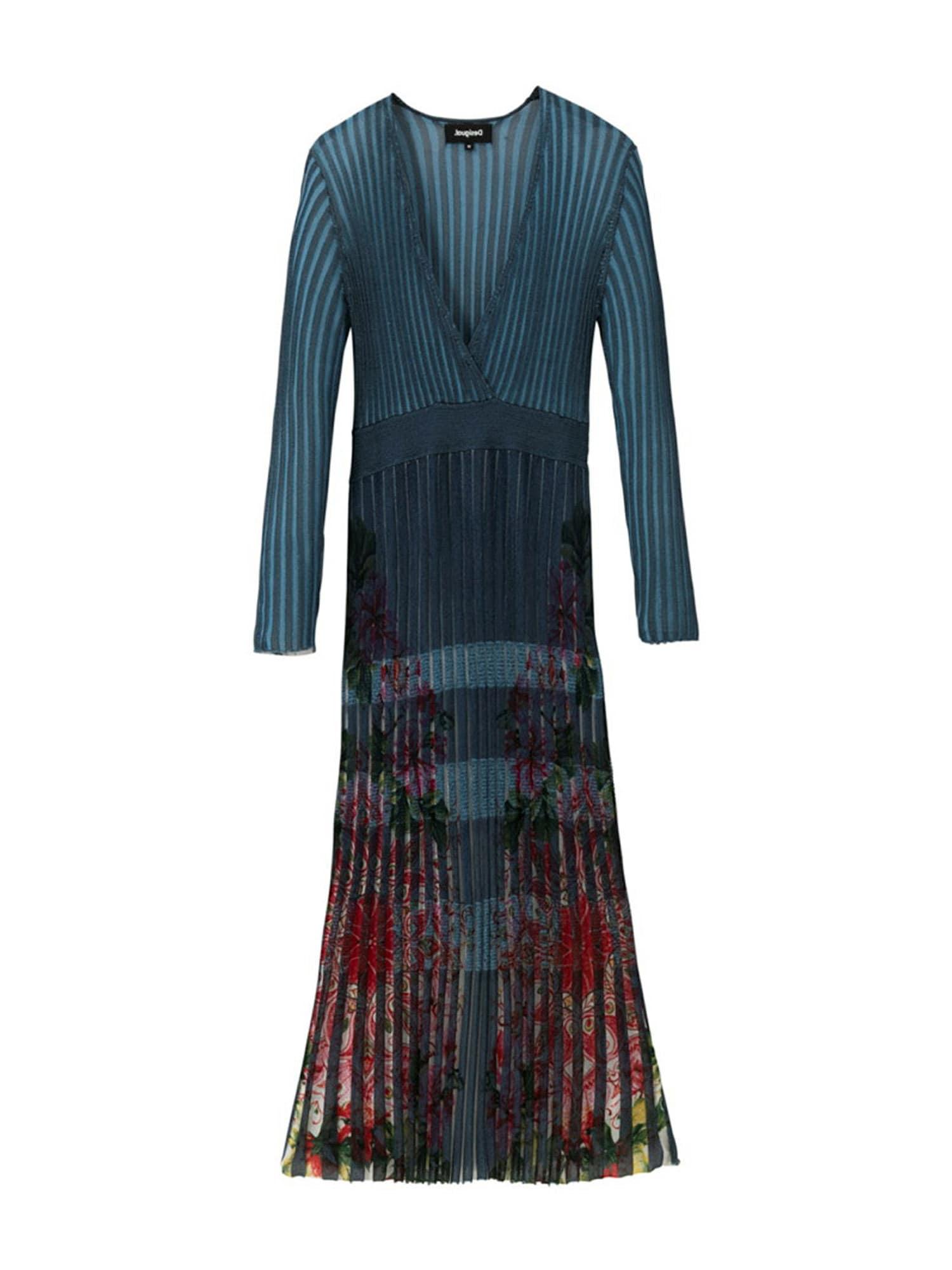 Desigual Megzta suknelė dangaus žydra / mišrios spalvos
