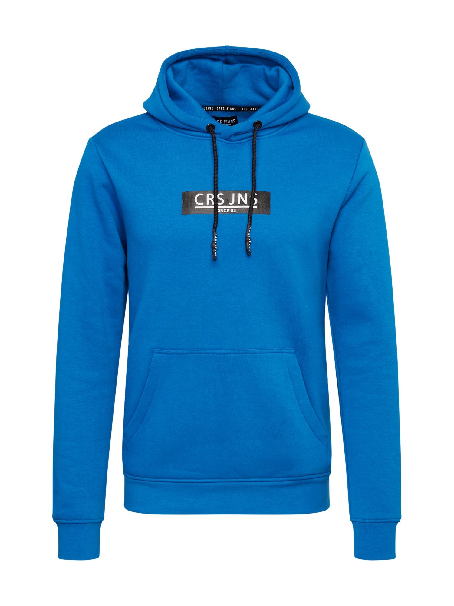 Cars Jeans Mikina 'PEARSER'  kobaltová modř / černá / bílá