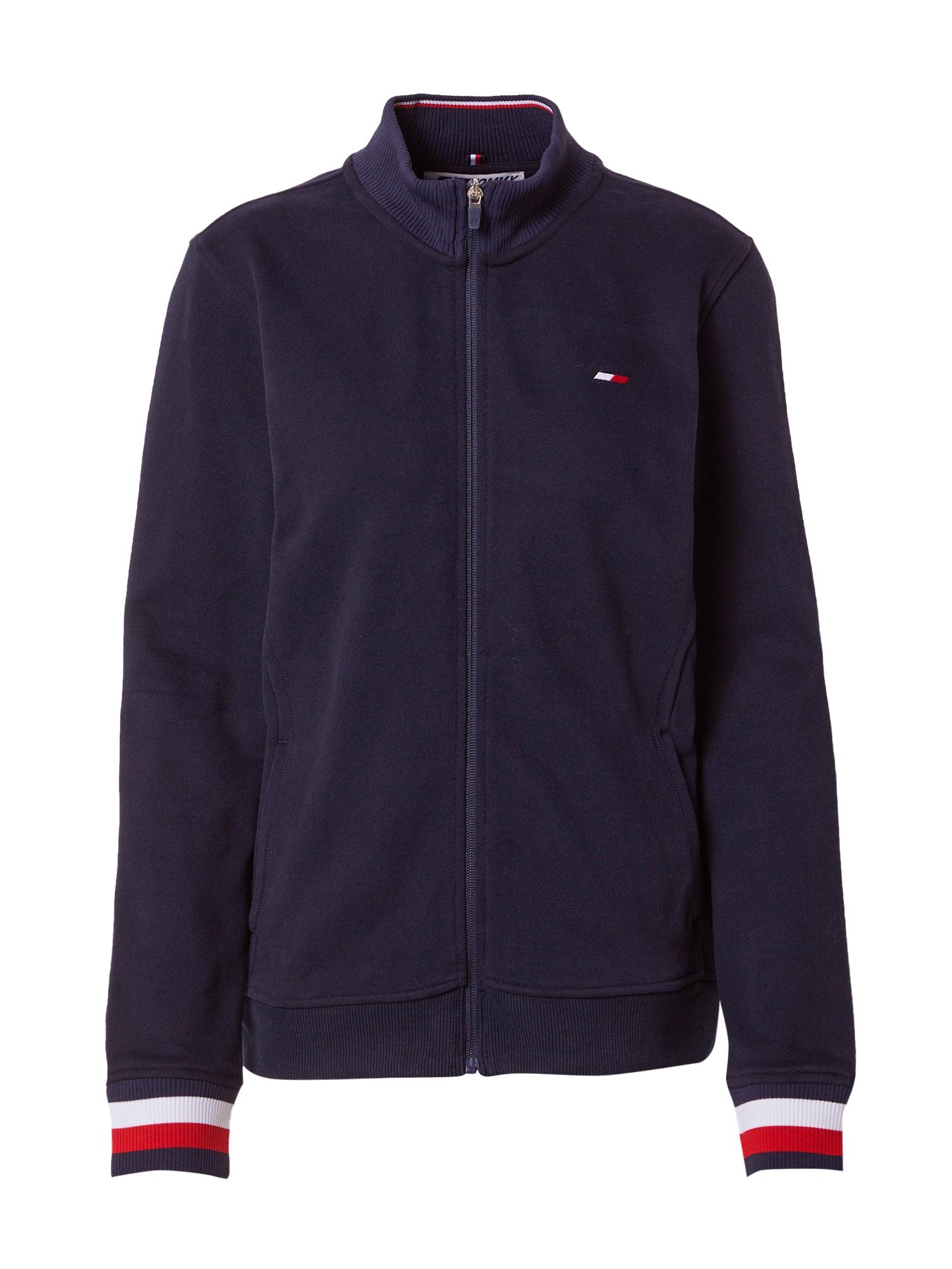 Tommy Sport Sportinis džemperis tamsiai mėlyna / balta / raudona