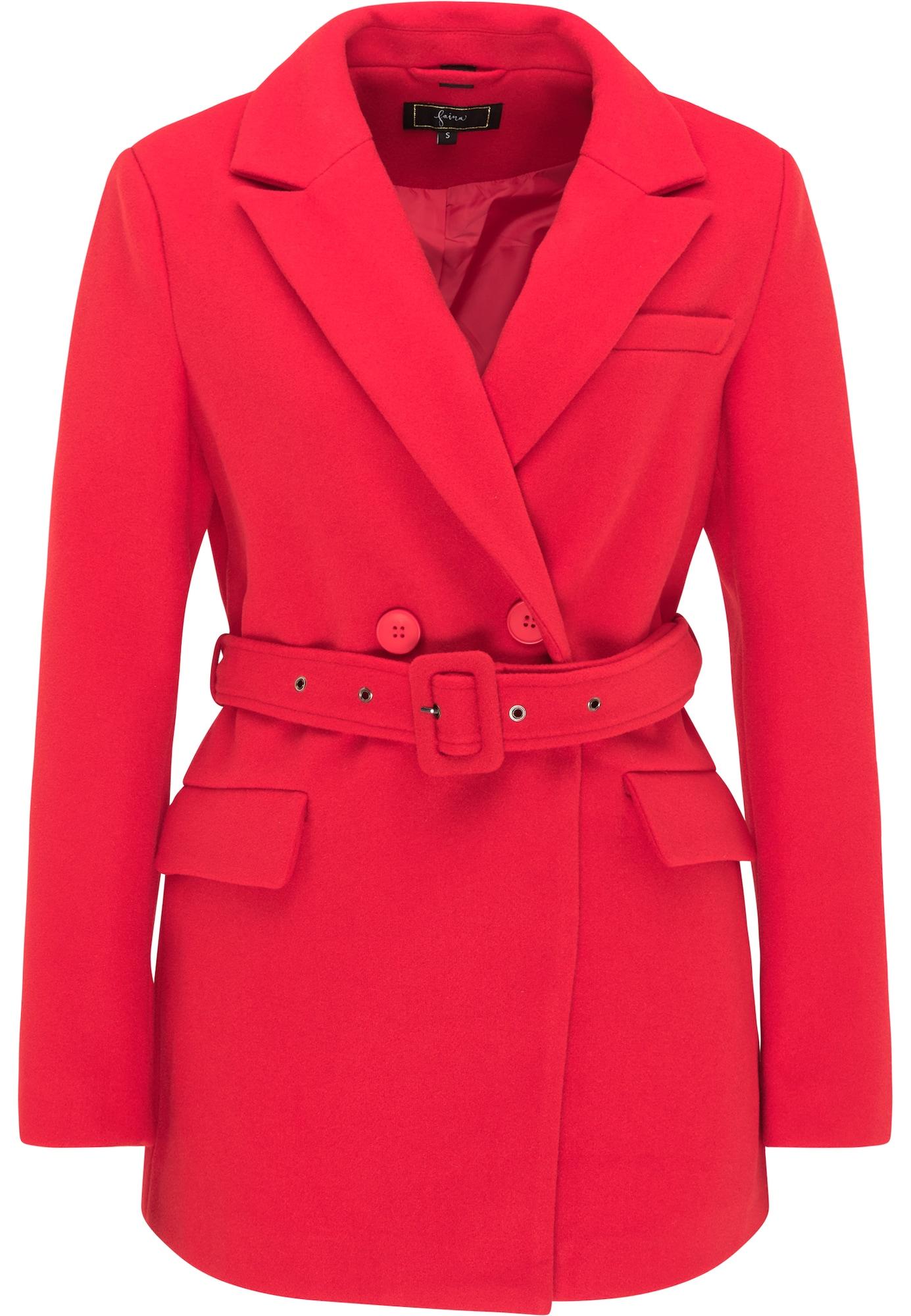 faina Demisezoninis paltas ryškiai raudona