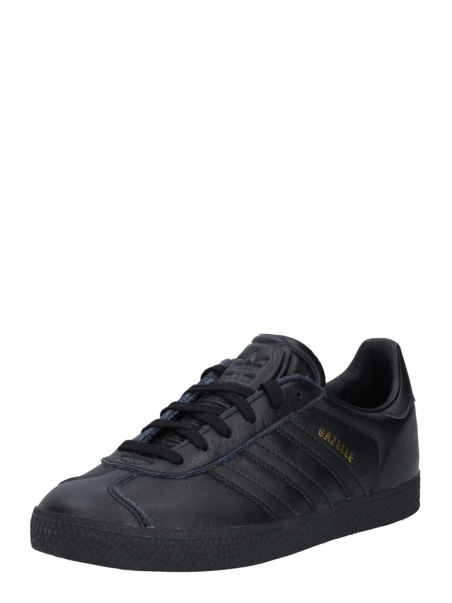 ADIDAS ORIGINALS Sportovní boty 'Gazelle'  černá / zlatá