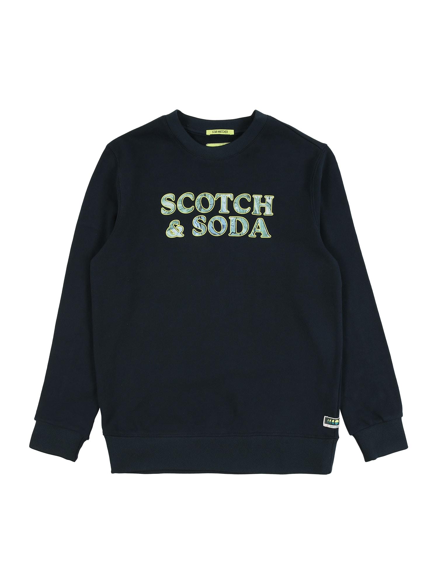 Scotch Shrunk Mikina  zelená / tmavě modrá