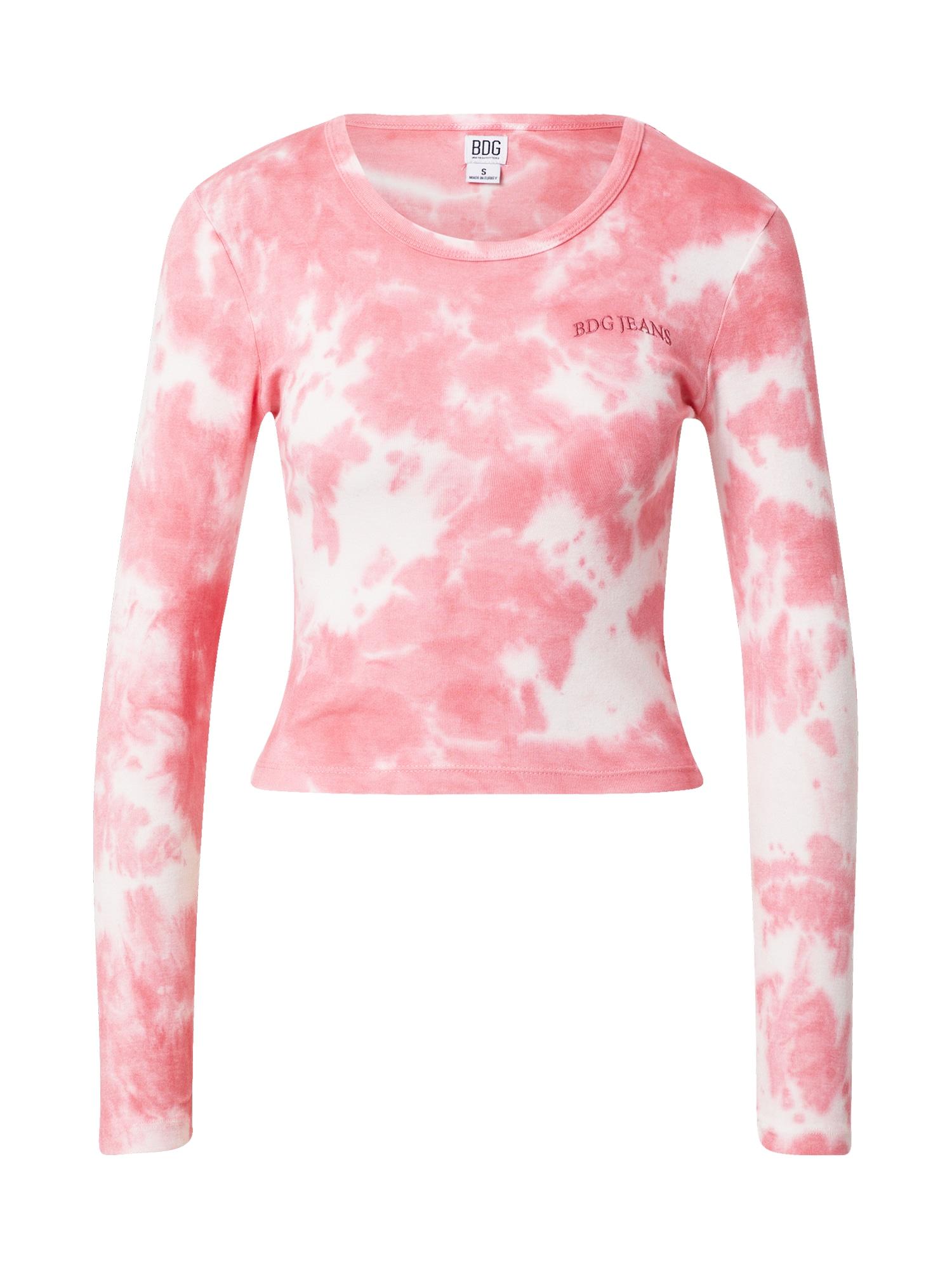 BDG Urban Outfitters Marškinėliai balta / rožinė