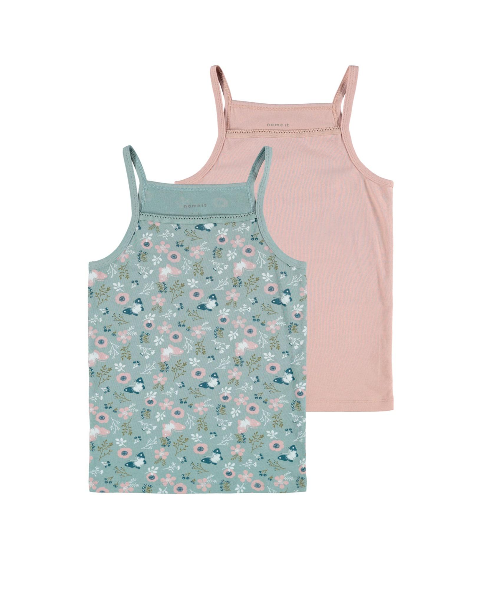 NAME IT Apatiniai marškinėliai rožinė / žalia