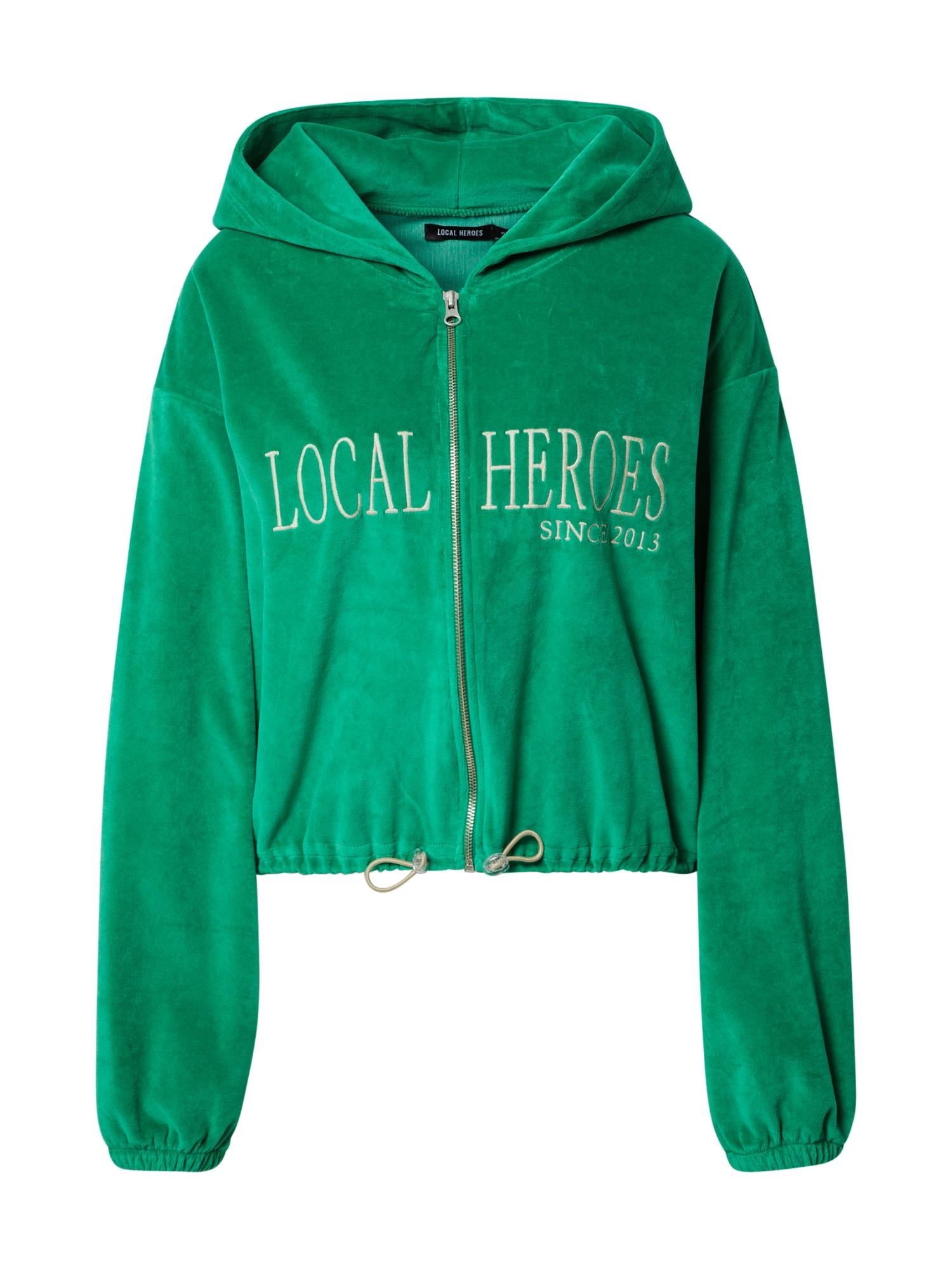 LOCAL HEROES Džemperis žalia / smėlio spalva