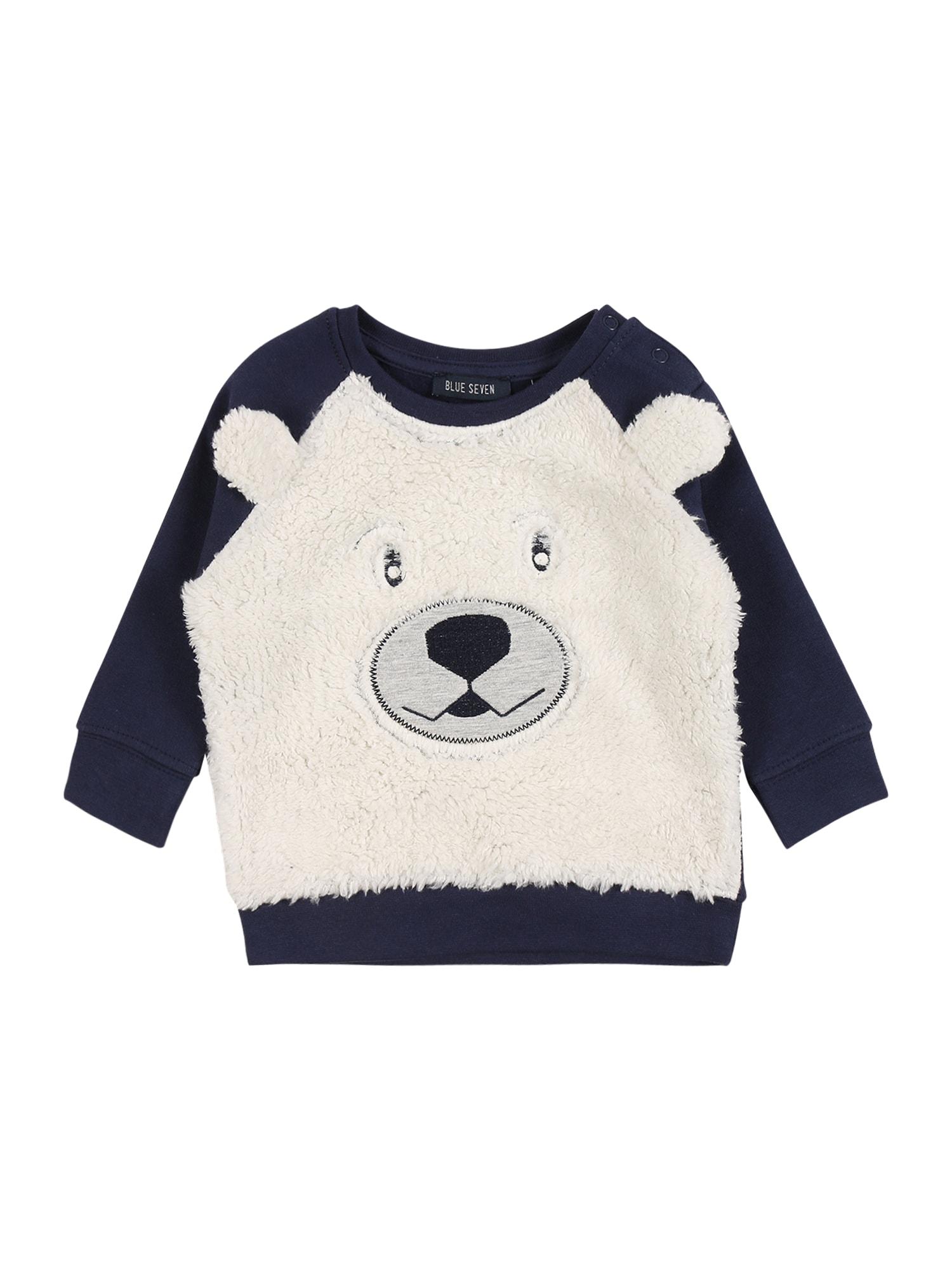 BLUE SEVEN Megztinis be užsegimo tamsiai mėlyna / balkšva