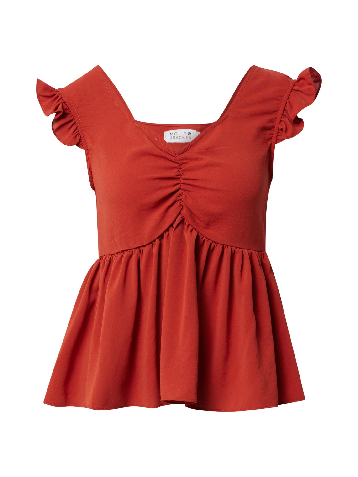 Molly BRACKEN Marškinėliai rūdžių raudona