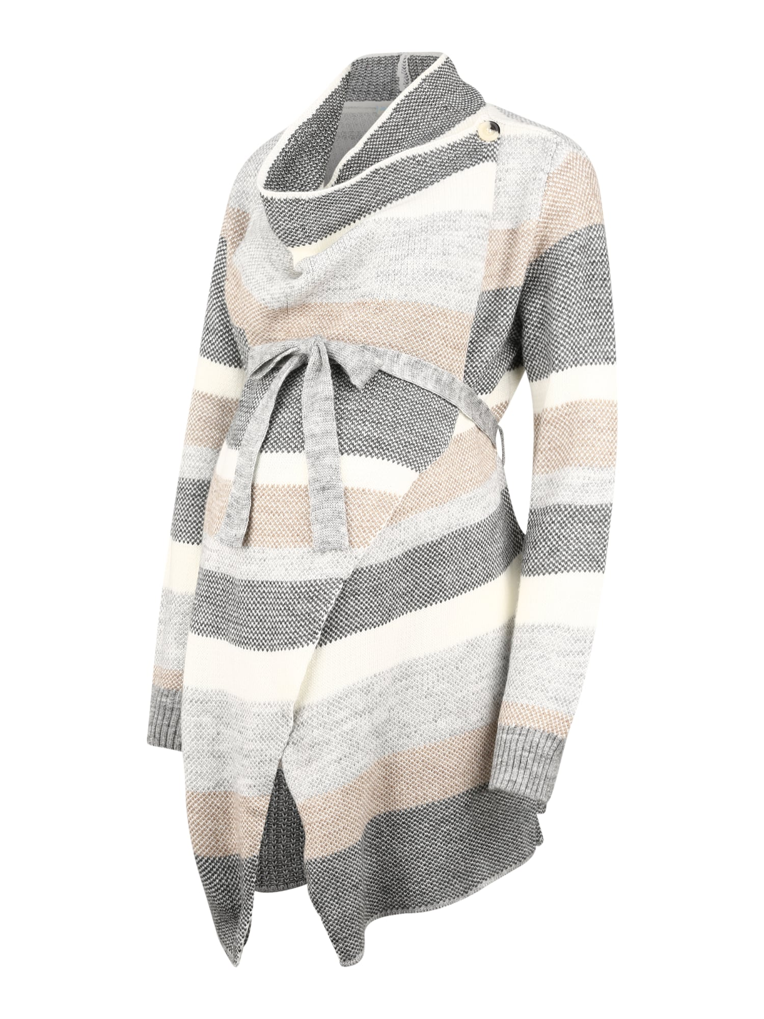 JoJo Maman Bébé Kardiganas smėlio spalva / bazalto pilka / balta / margai pilka