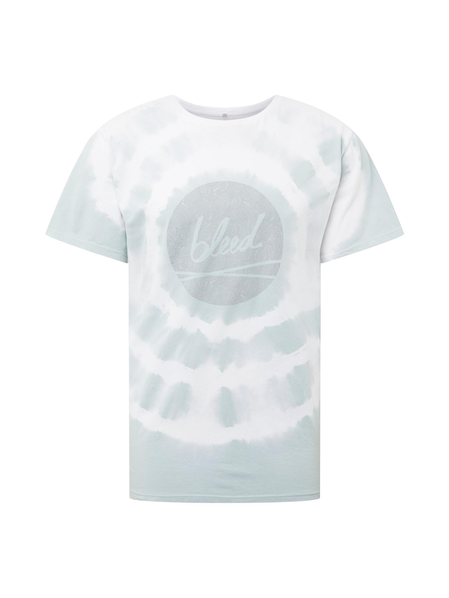 bleed clothing Marškinėliai balta / pastelinė mėlyna