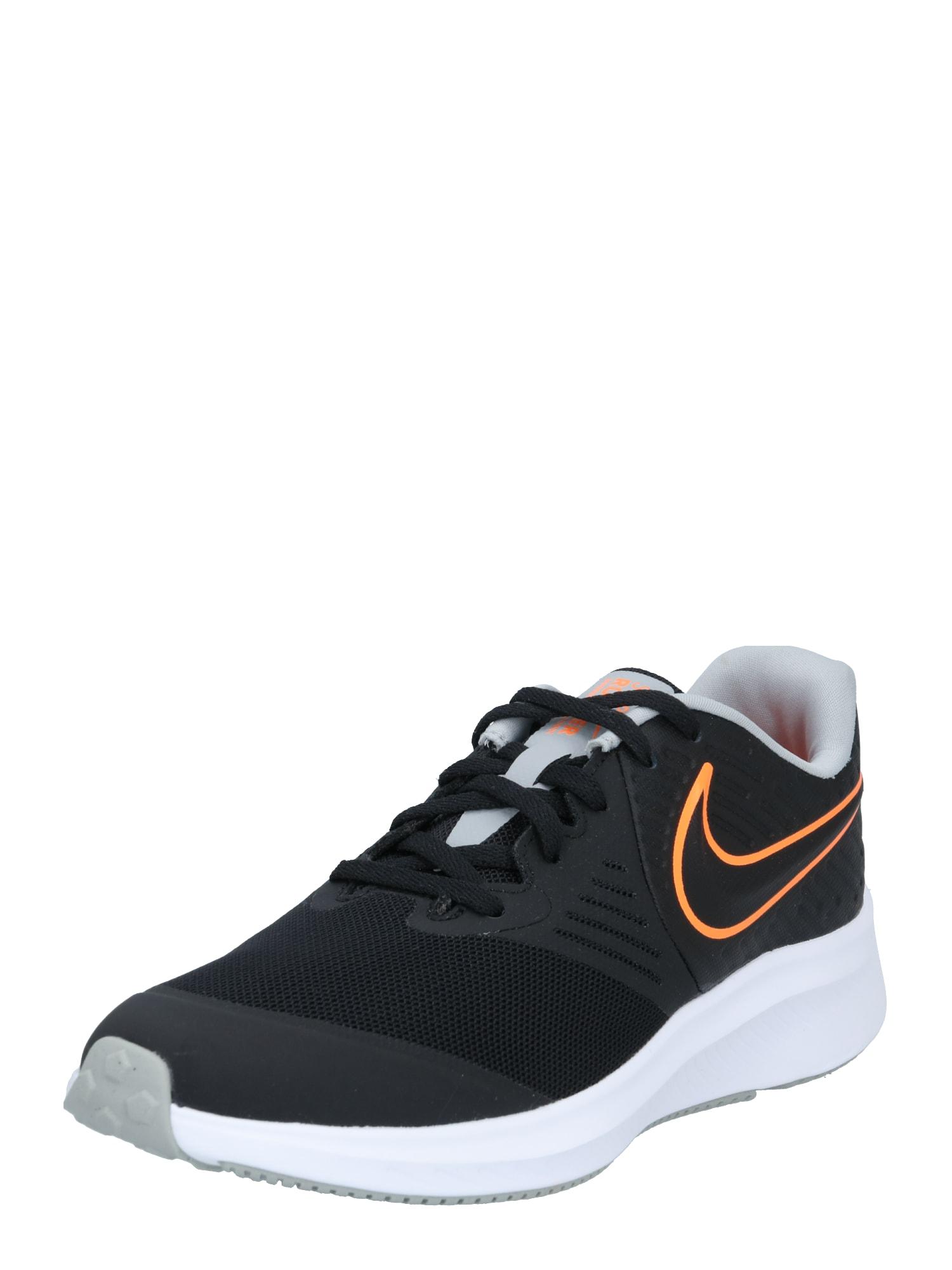 NIKE Tenisky 'Star Runner 2'  oranžová / černá / bílá