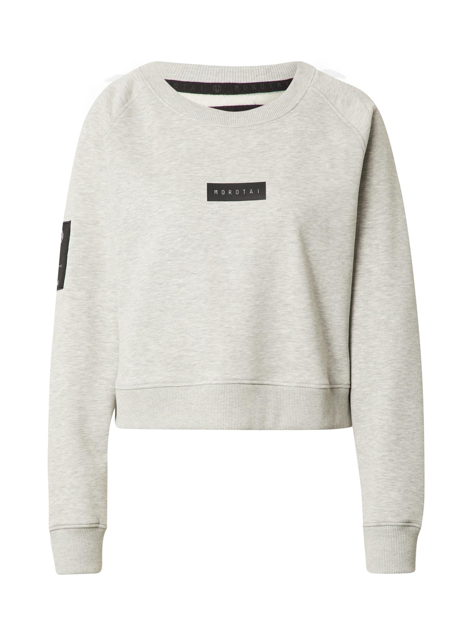 MOROTAI Sportinio tipo megztinis šviesiai pilka / juoda