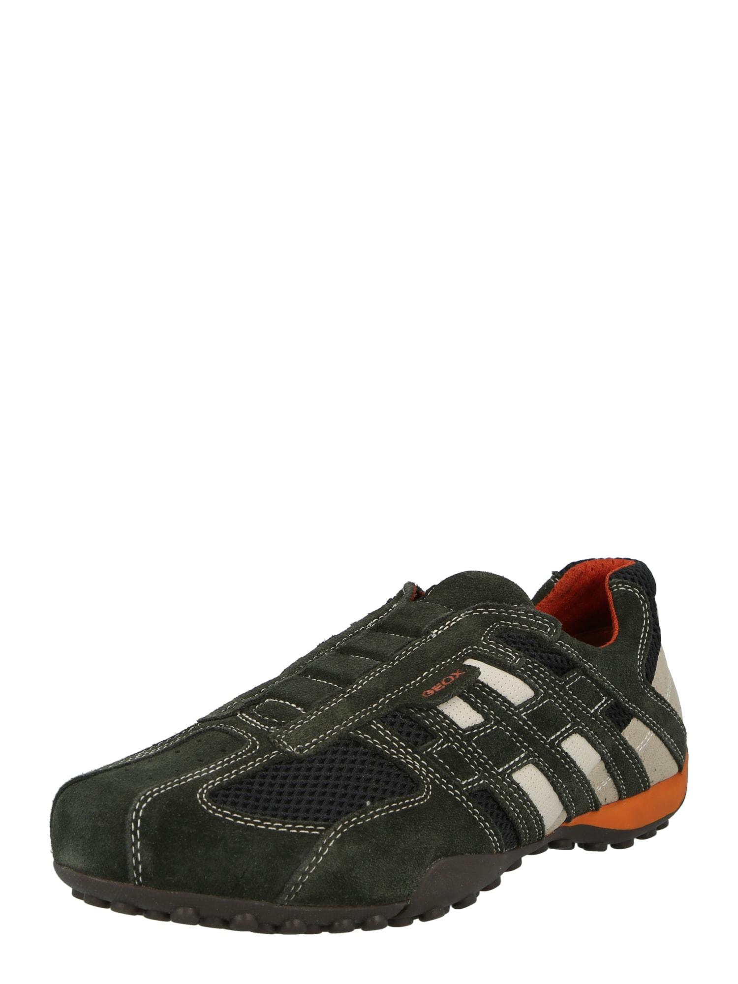 GEOX Rövid szárú edzőcipők fehér / éjkék / bazaltszürke / szürke