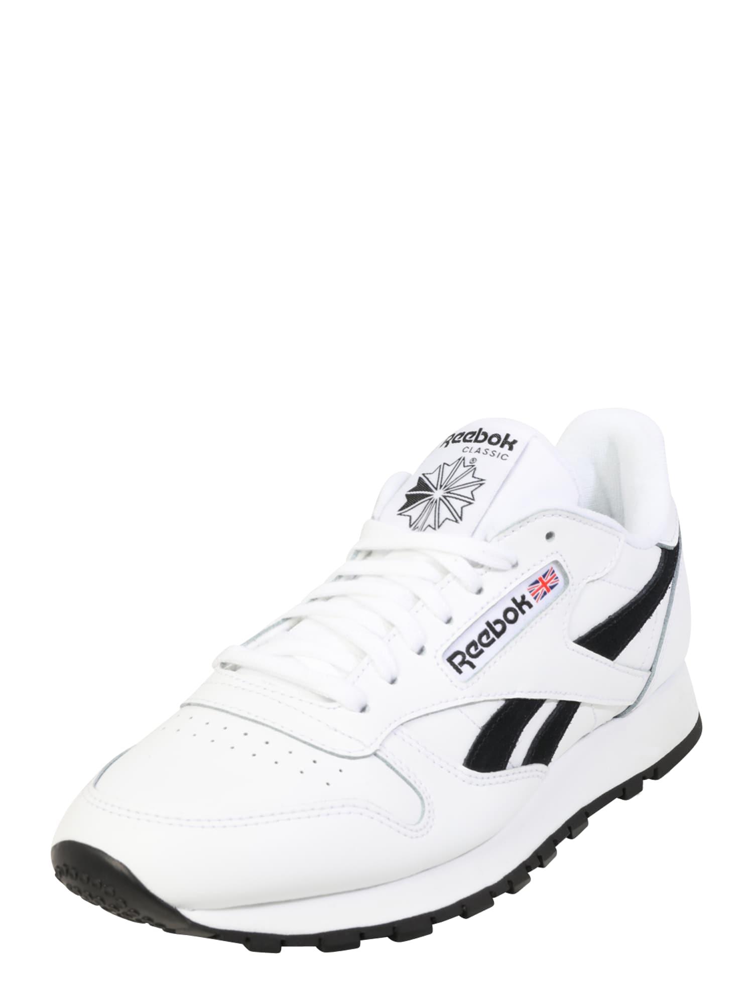 Reebok Classic Nízke tenisky  biela / čierna
