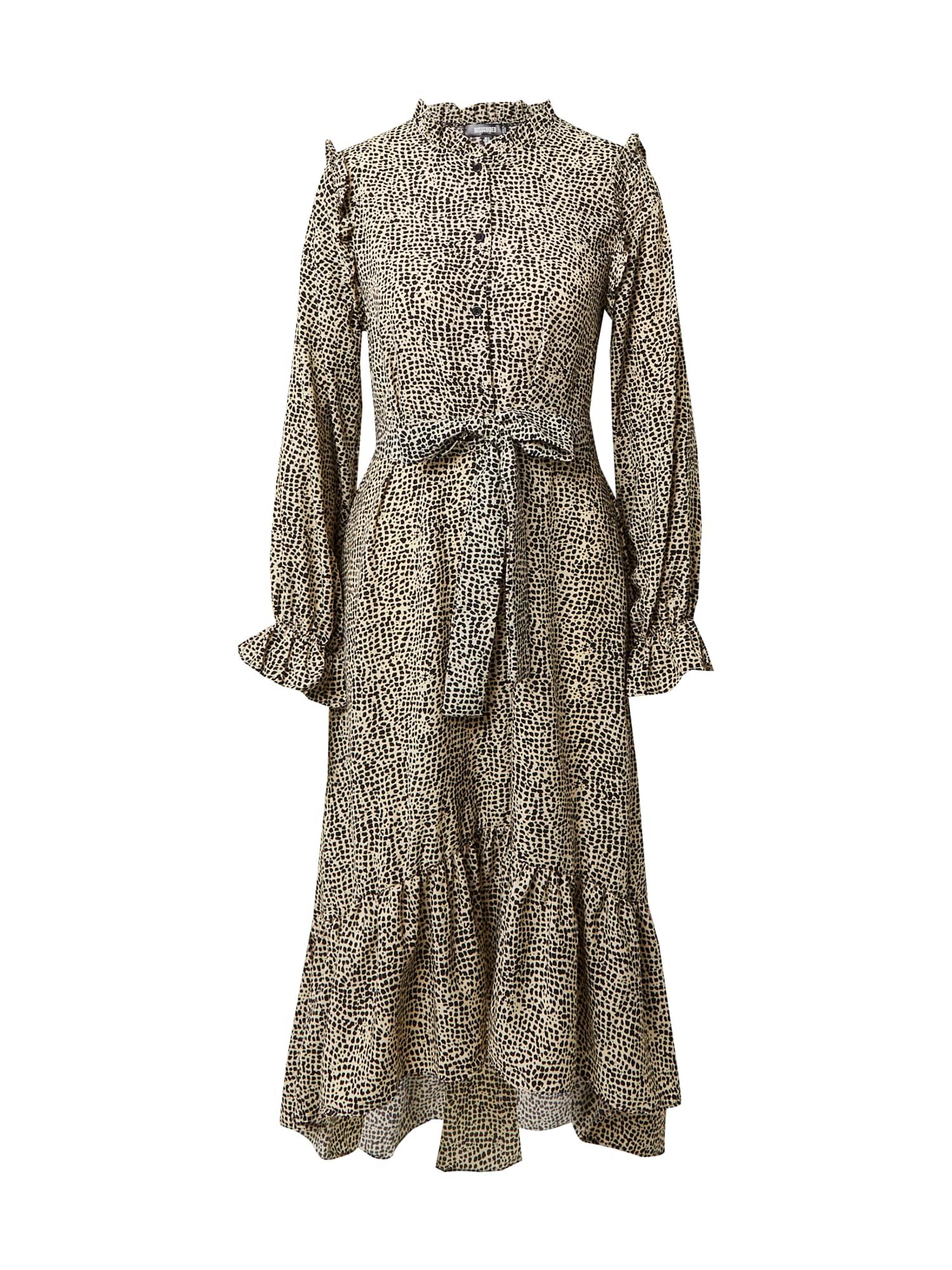 Missguided Palaidinės tipo suknelė juoda / smėlio