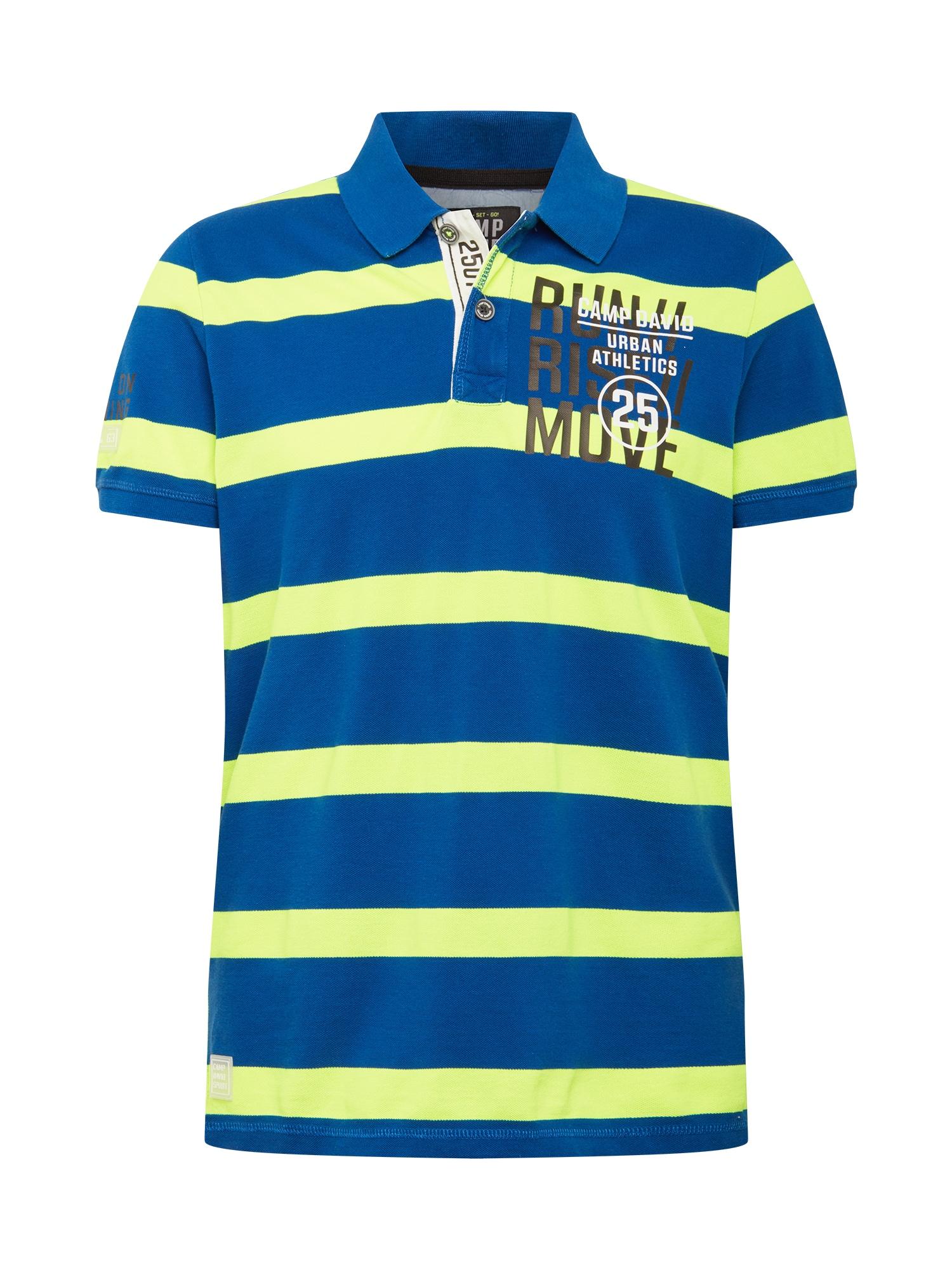 CAMP DAVID Marškinėliai mėlyna / geltona