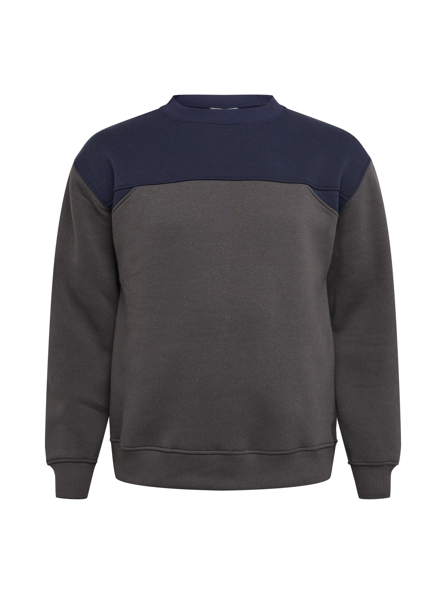 NU-IN Big & Tall Megztinis be užsegimo rausvai pilka / tamsiai mėlyna