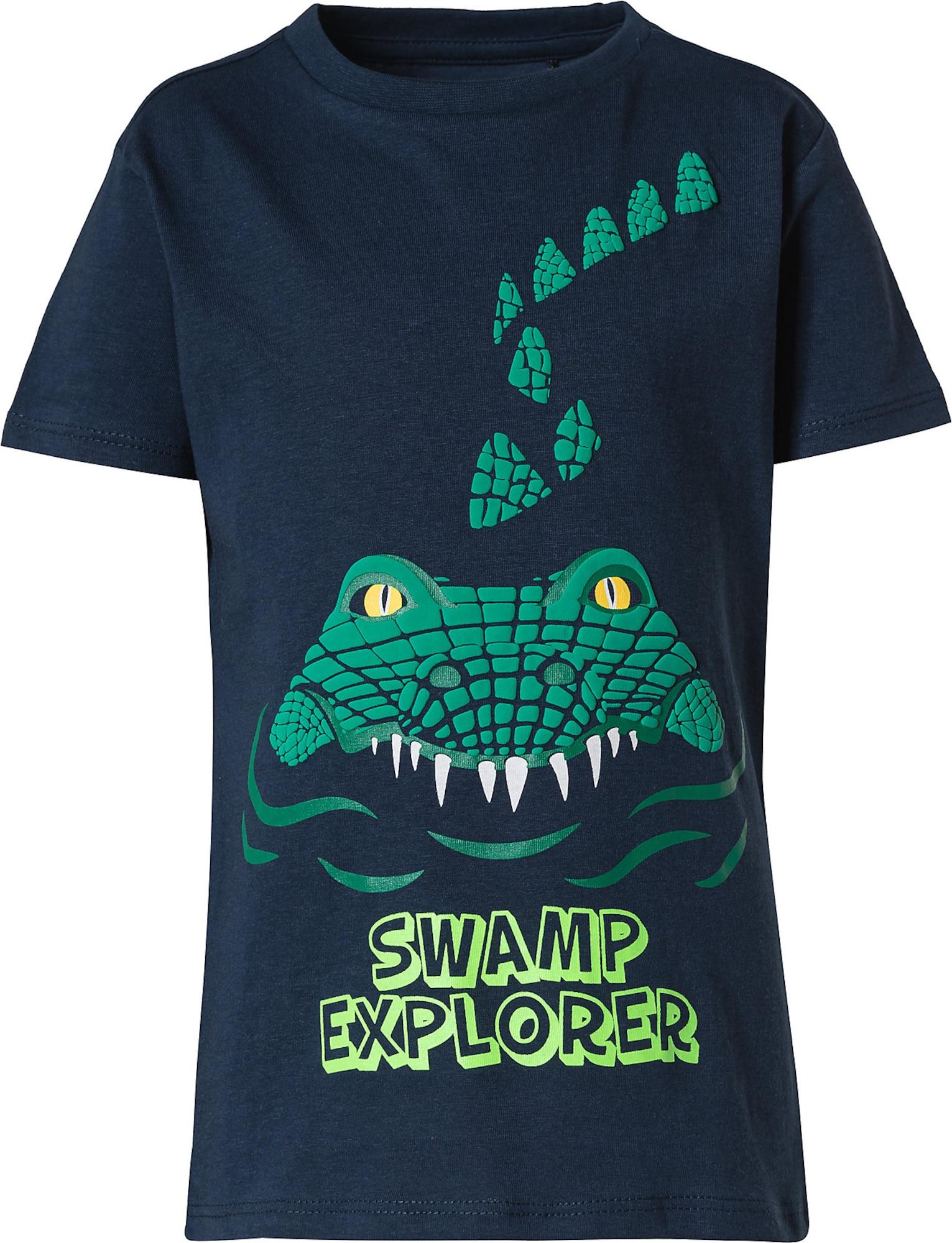 LEMON BERET Marškinėliai tamsiai mėlyna / žalia