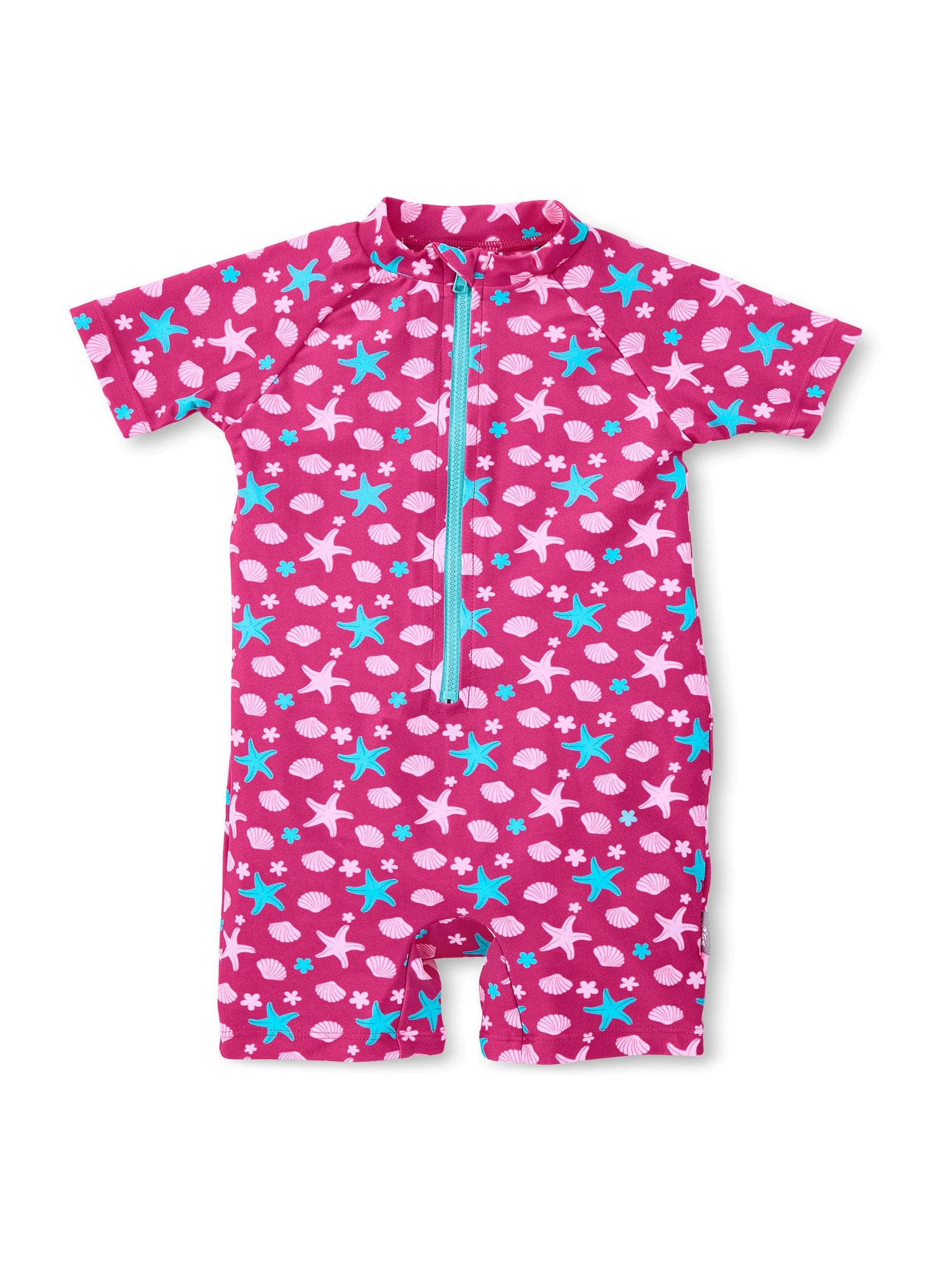 STERNTALER Maudymosi kostiumėlis šviesiai mėlyna / pitajų spalva / šviesiai rožinė
