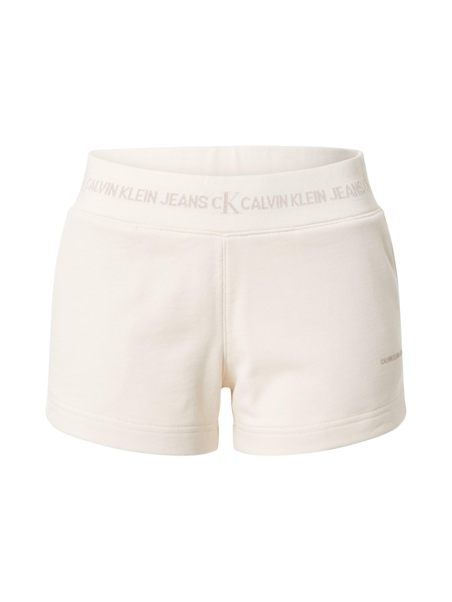 Calvin Klein Jeans Kelnės natūrali balta