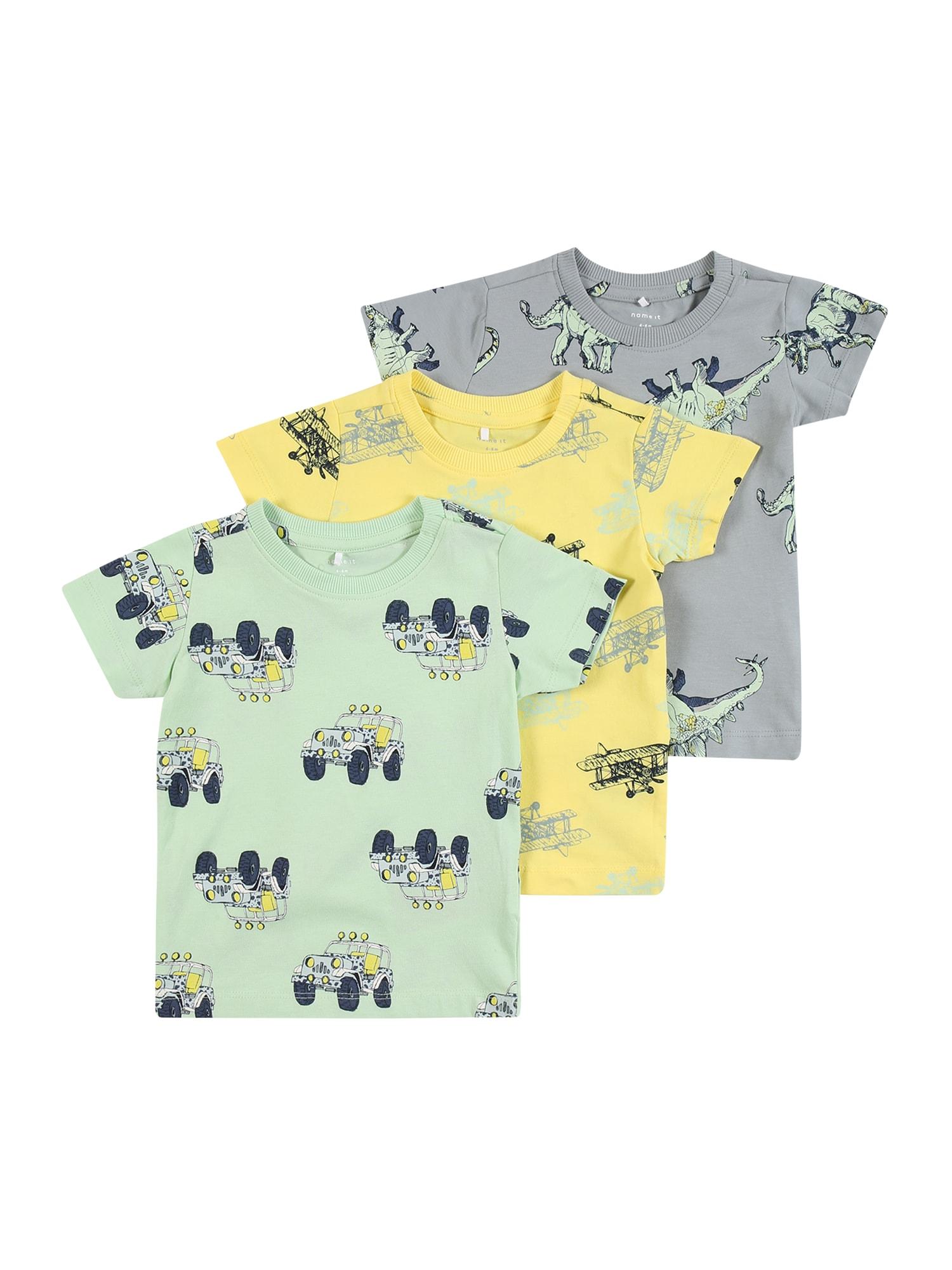 NAME IT Marškinėliai pastelinė žalia