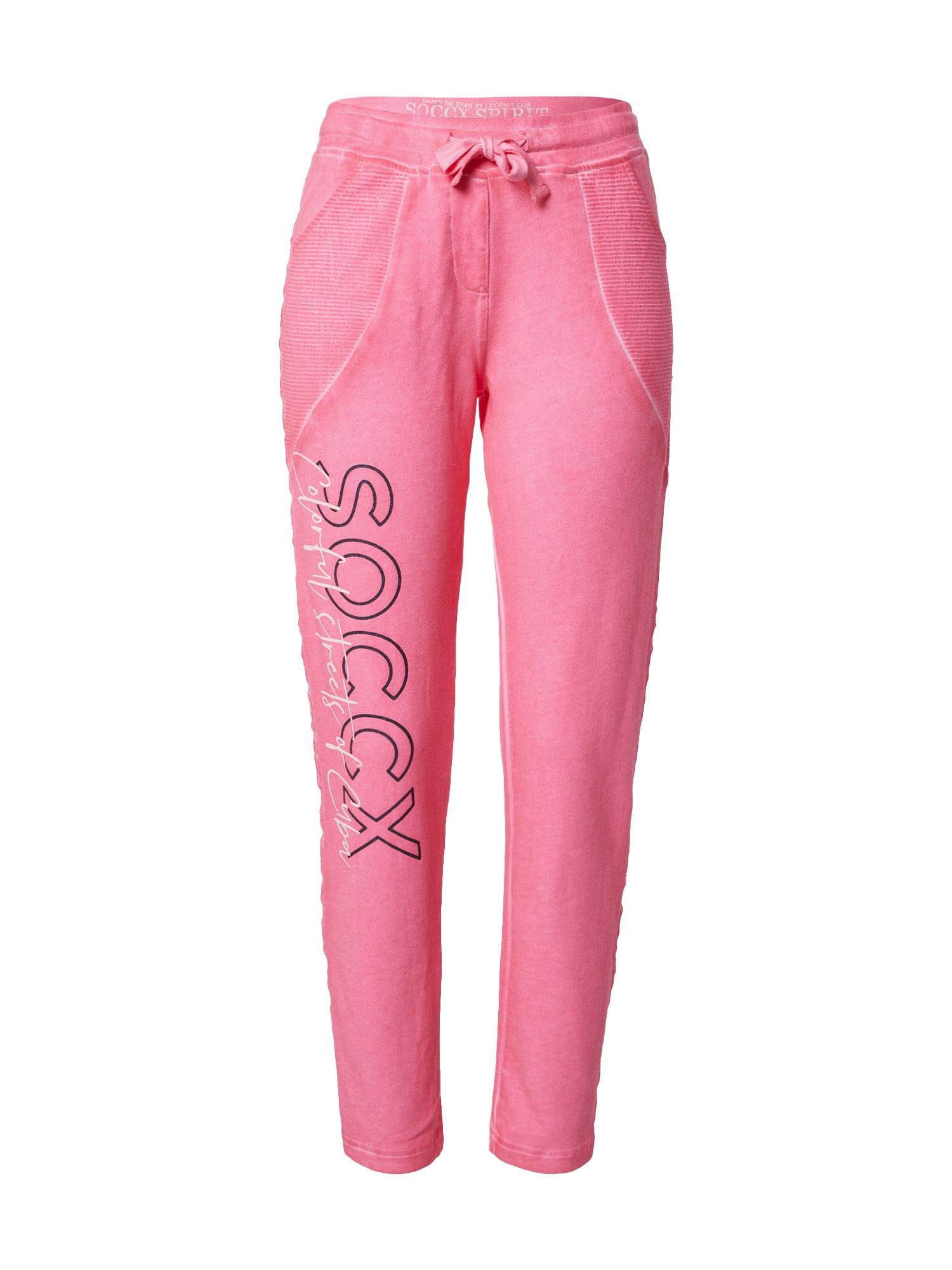 Soccx Kelnės rožinė / juoda / balta