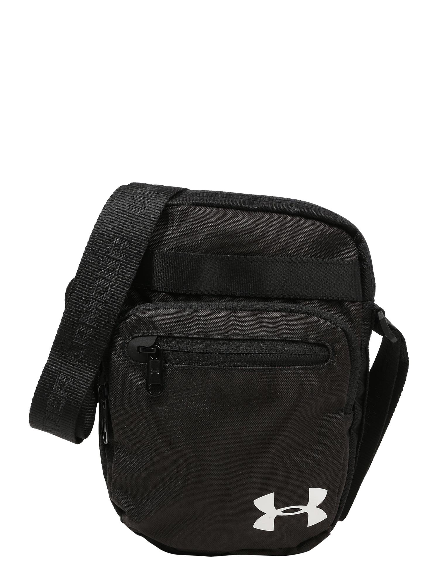 UNDER ARMOUR Sportovní taška  černá / bílá