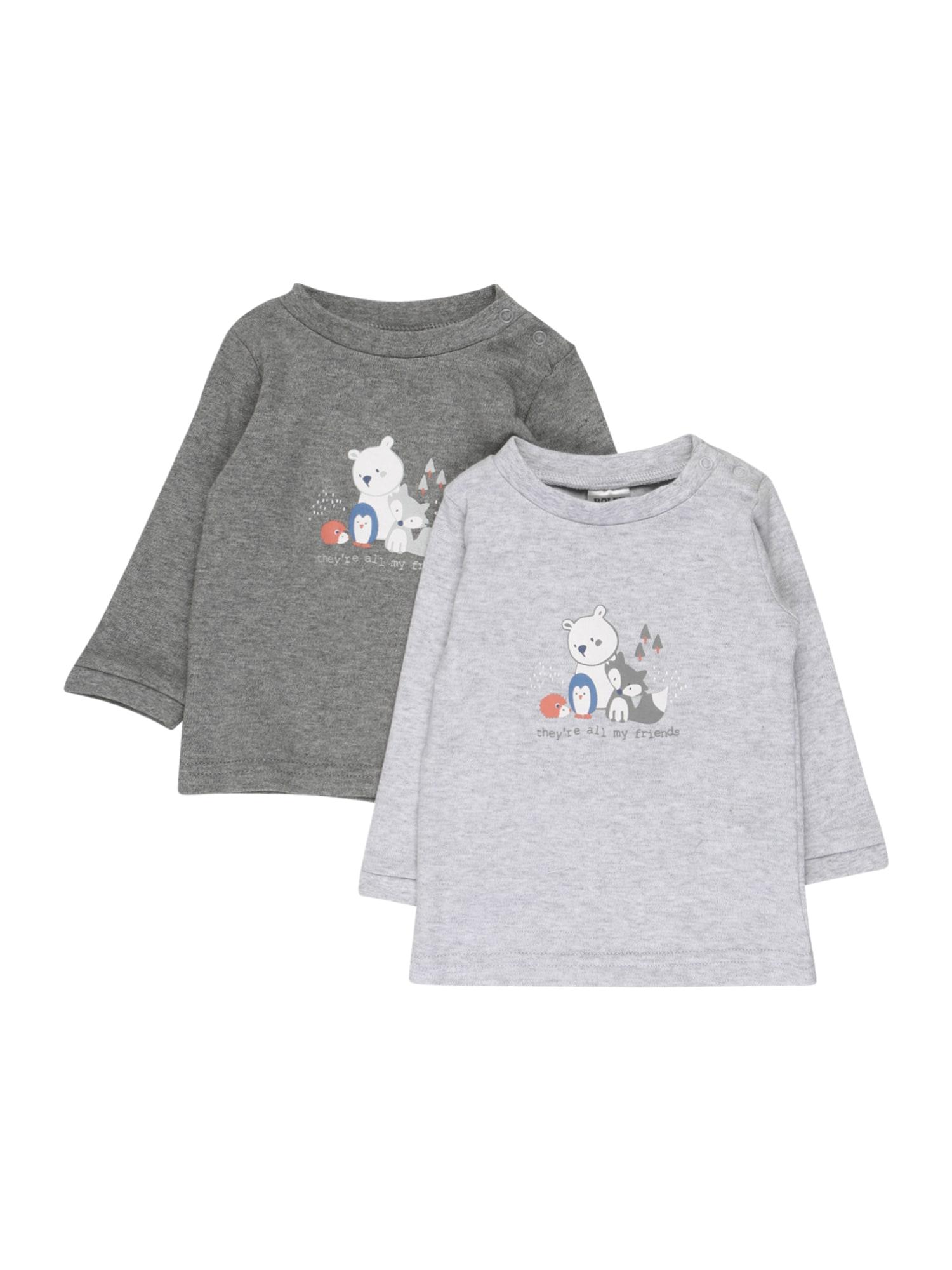 JACKY Marškinėliai balta / pilka