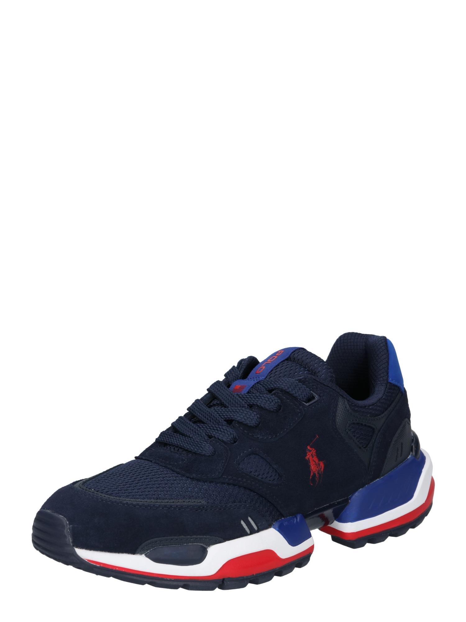 POLO RALPH LAUREN Tenisky  bílá / červená / tmavě modrá