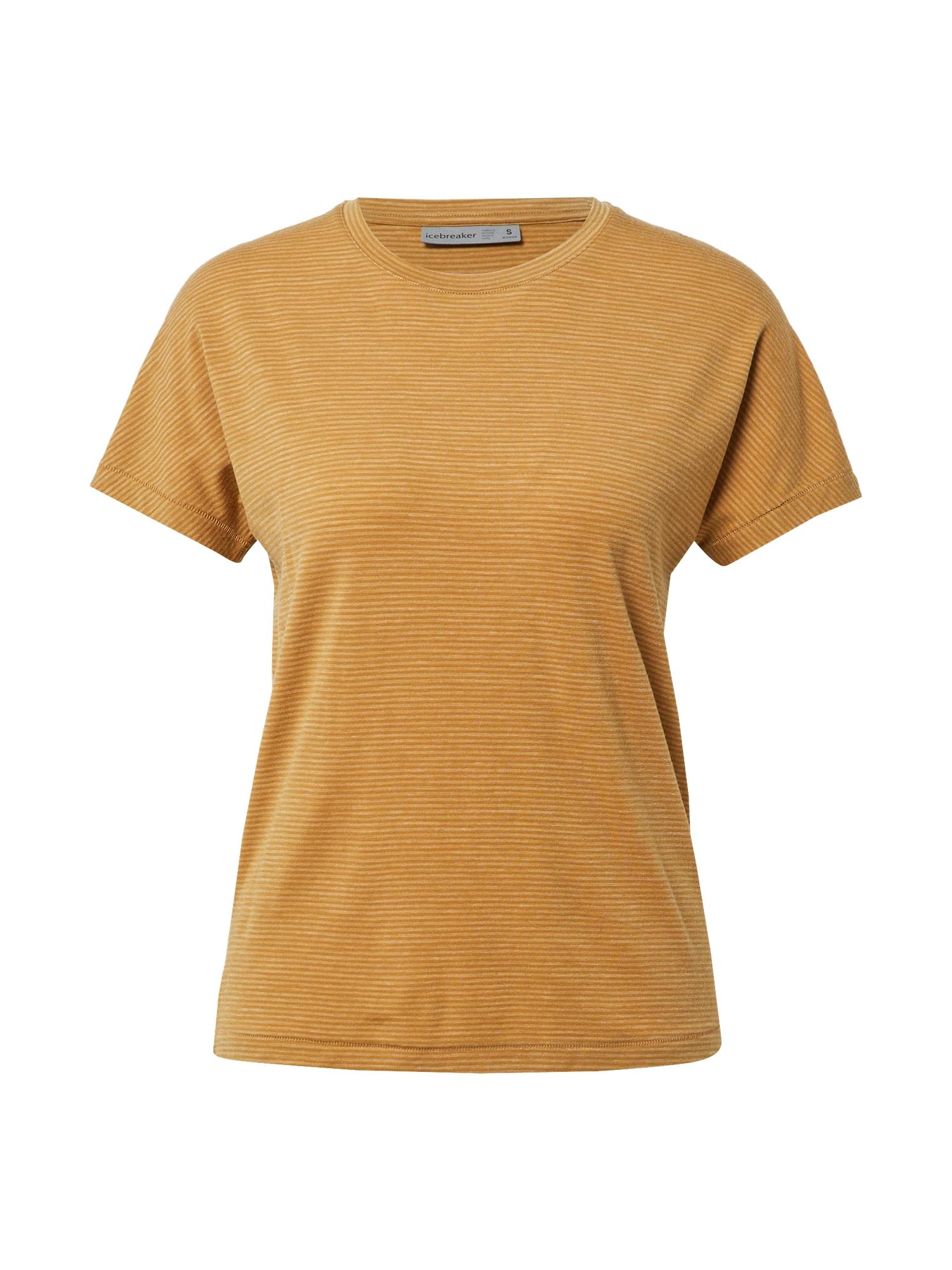 ICEBREAKER Sportiniai marškinėliai šviesiai ruda / rusvai oranžinė