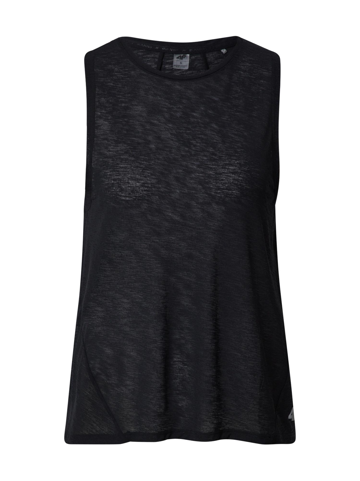 4F Sportiniai marškinėliai be rankovių juoda
