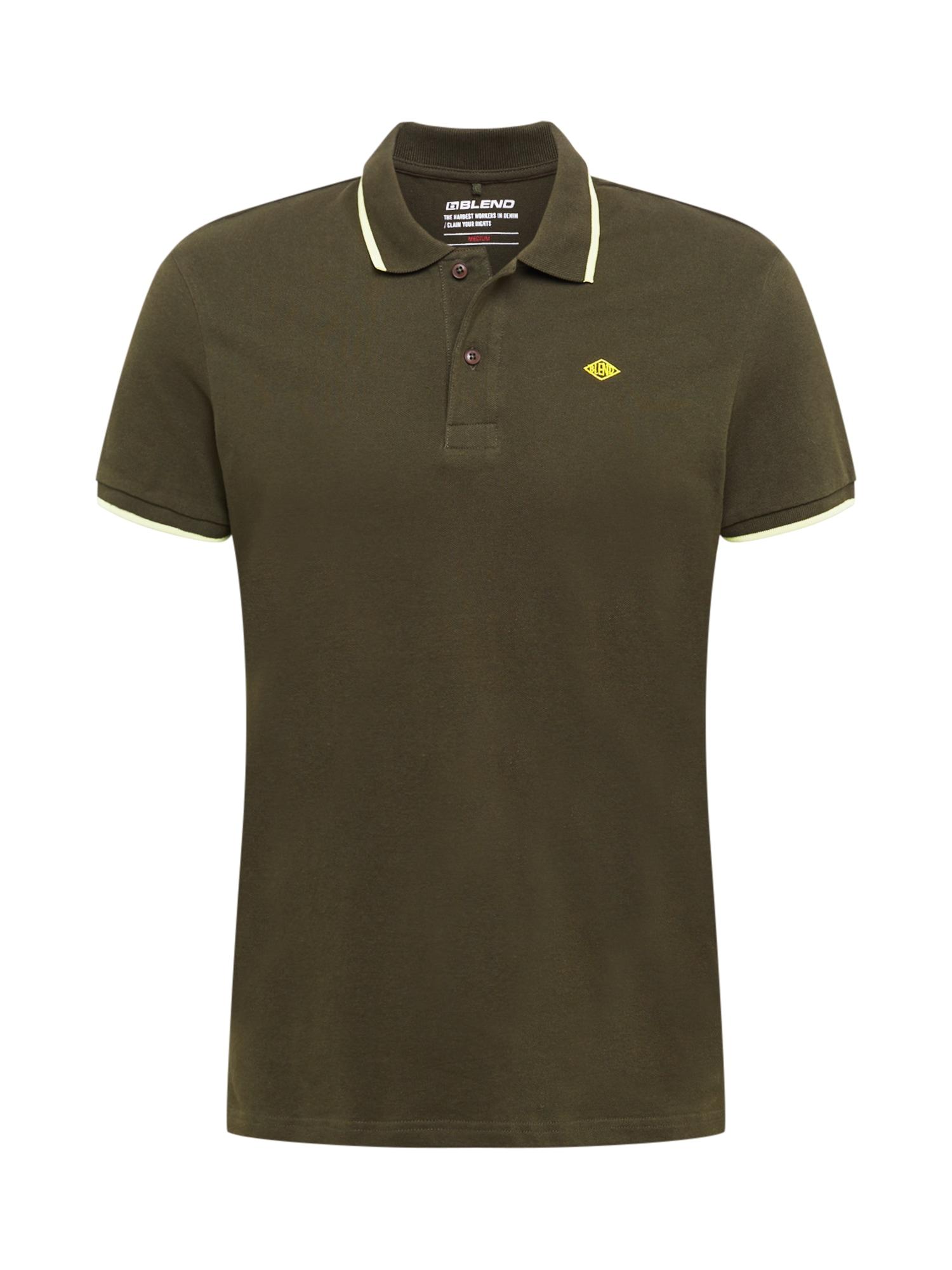 BLEND Marškinėliai tamsiai žalia