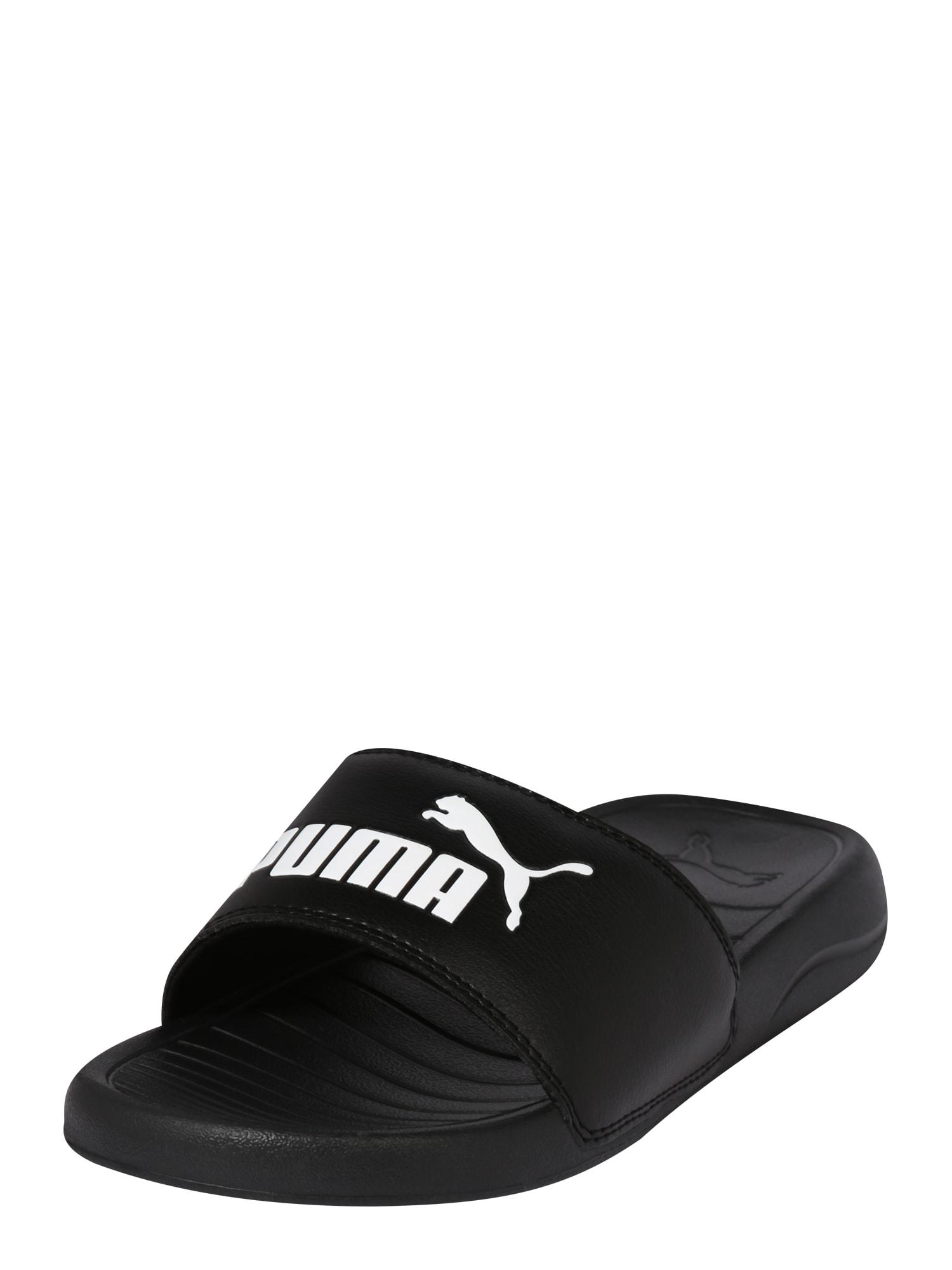 PUMA Sandalai / maudymosi batai 'POPCAT 20' juoda / balta