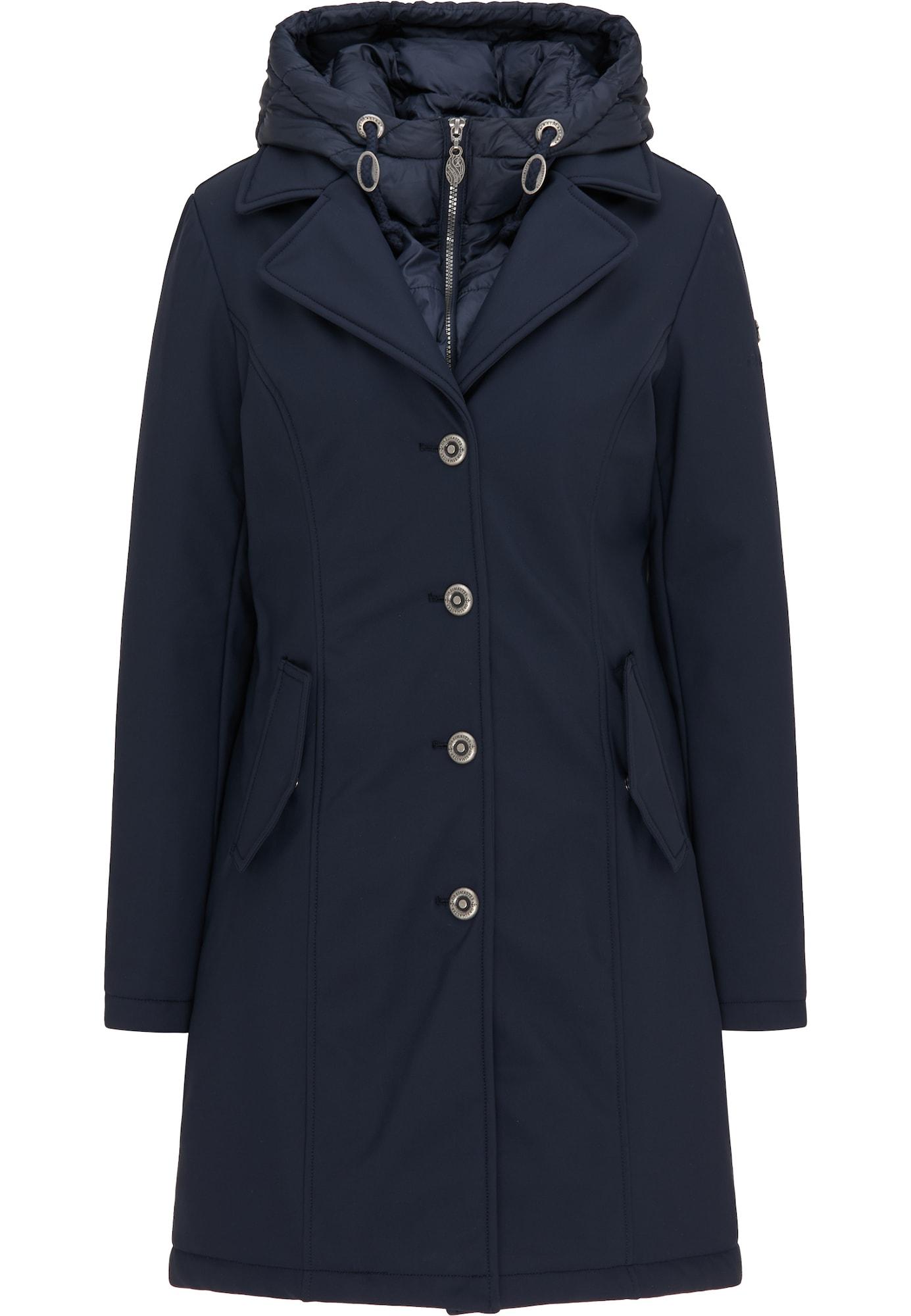 DreiMaster Klassik Žieminis paltas tamsiai mėlyna