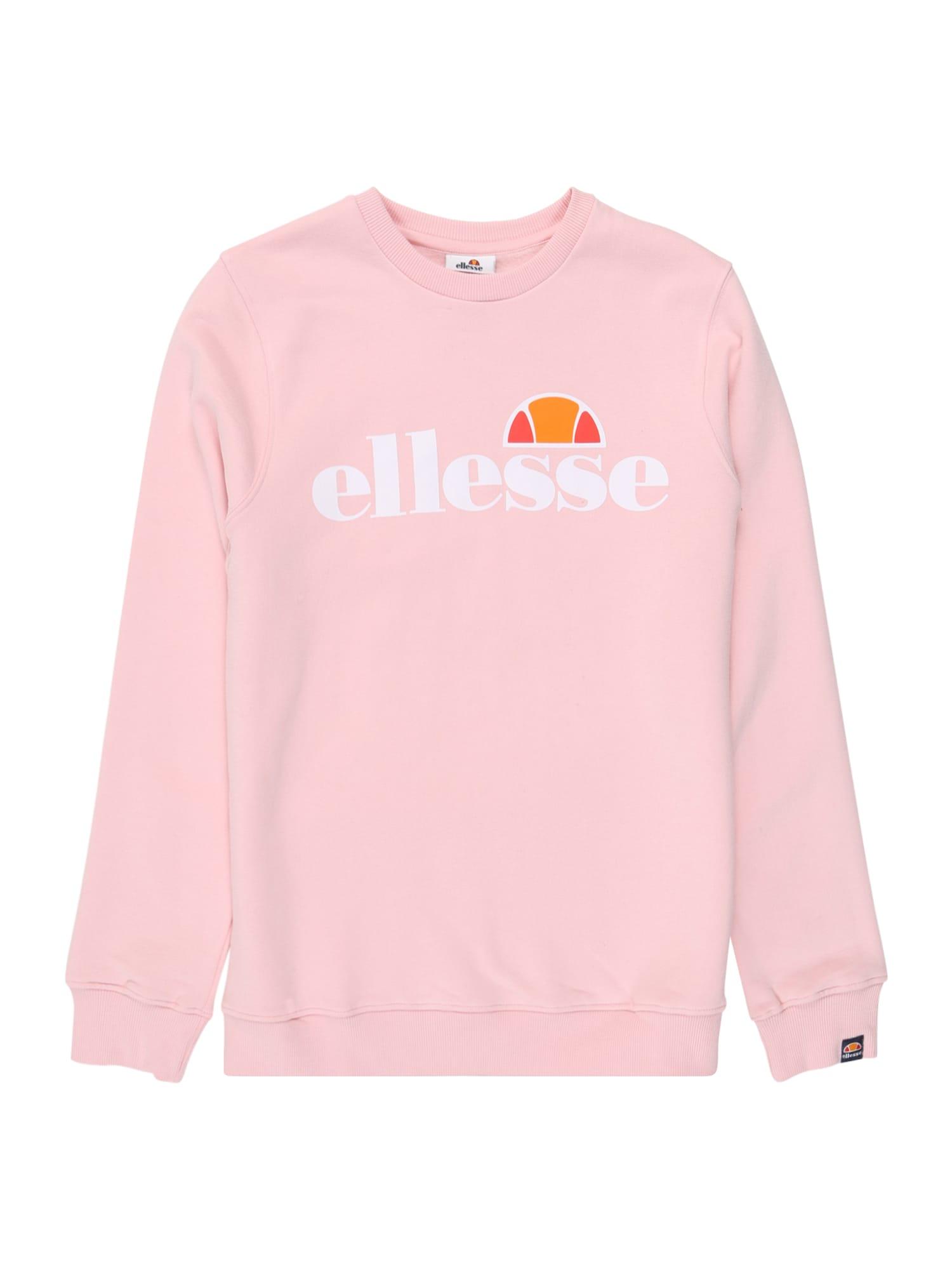 ELLESSE Megztinis be užsegimo 'Siobhen' rožių spalva / balta / oranžinė-raudona / oranžinė
