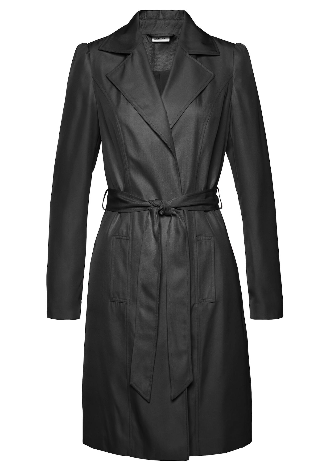 LASCANA Demisezoninis paltas juoda