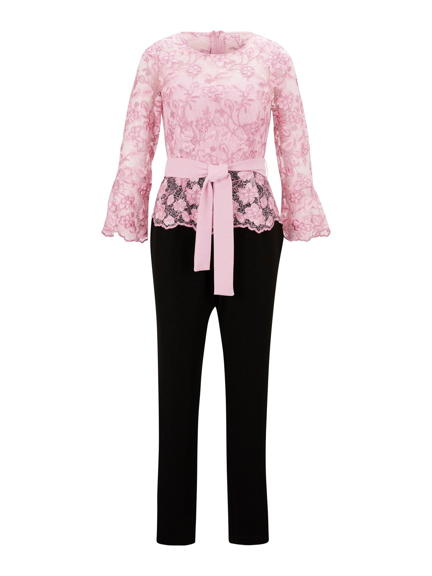 Patrizia Dini by heine Vienos dalies kostiumas juoda / rožių spalva