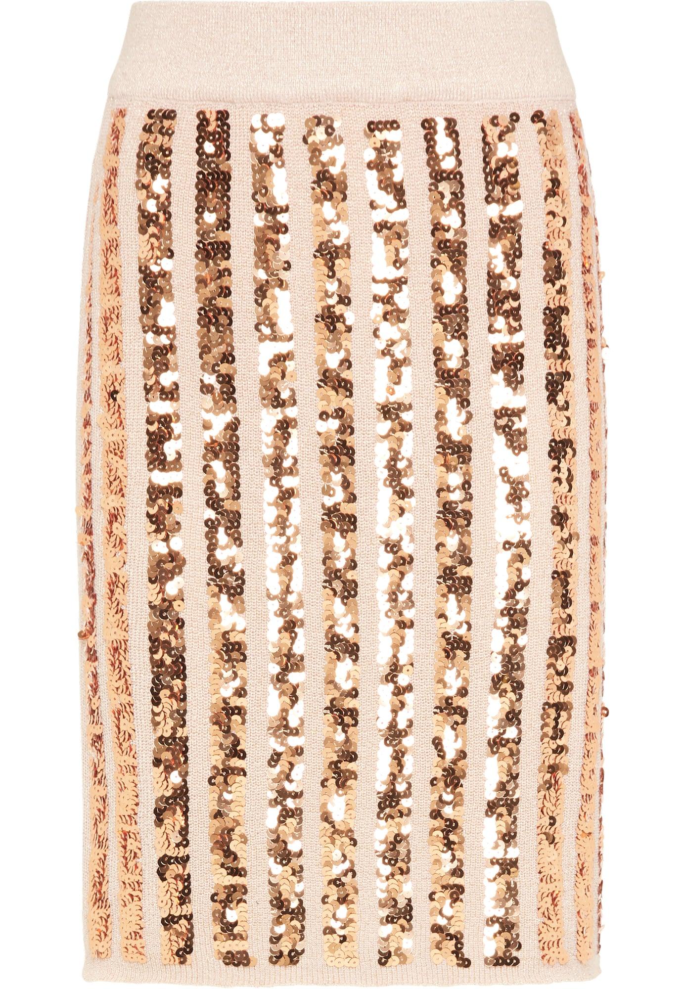 faina Sijonas pastelinė rožinė / bronzinė