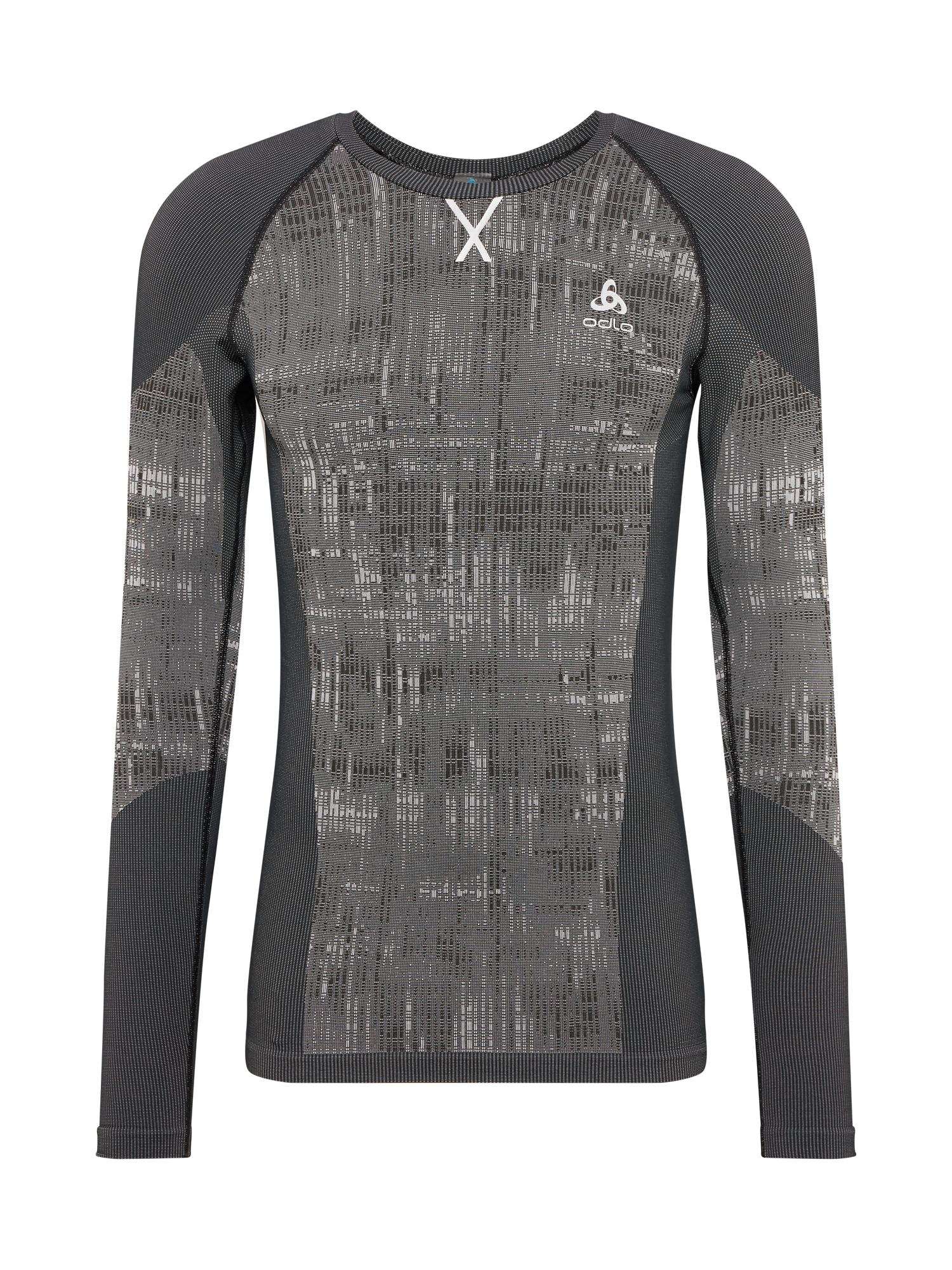 ODLO Sportiniai apatiniai marškinėliai 'Blackcomb Bl' juoda / pilka